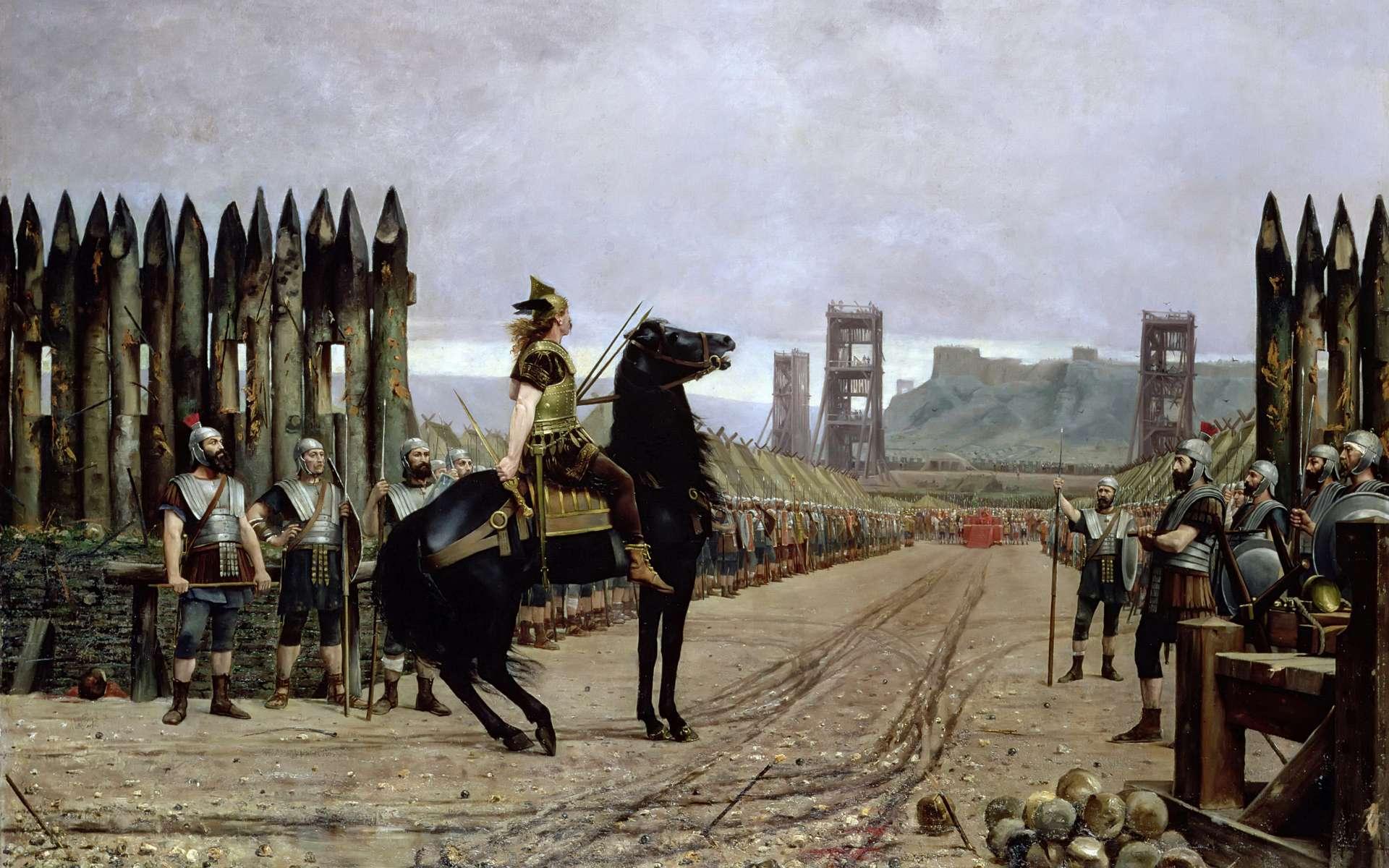Vercingétorix se rend à Jules César, peinture de Henri-Paul Motte (1846–1922), Musée Crozatier de Puy-en-Velay, Wikimedia Commons, DP