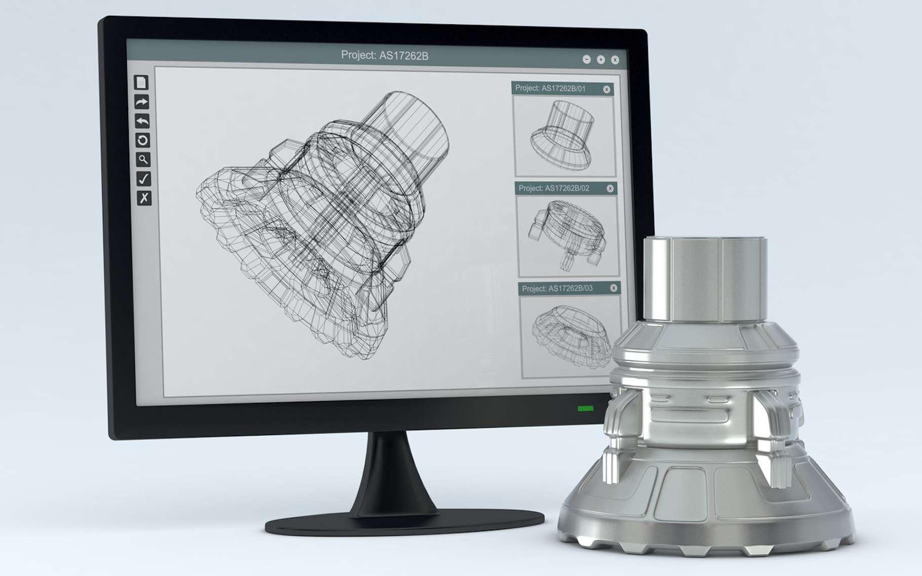 Le principe du prototypage rapide : fabriquer rapidement des modèles de pièces à partir de données conçues en 3D par ordinateur. Différentes techniques peuvent être mobilisées pour répondre aux besoins particuliers des ingénieurs et des designers. © lucadp, Fotolia