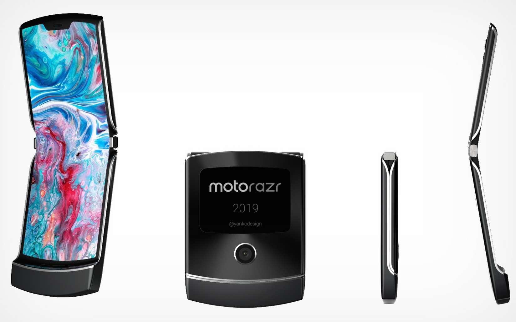 Le Razr s'est vendu à plusieurs dizaines de millions d'exemplaires. La version écran pliable aura-t-elle le même succès ? © Yanko Design