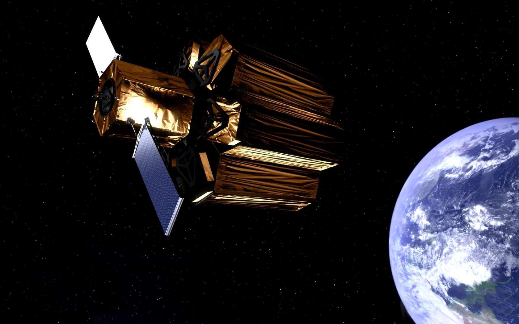 Véritable laboratoire d'innovation, le concept de satellite d'observation de la Terre en géostationnaire de Thales Alenia Space permet de développer des technologies qui seront utiles bien au-delà de ce concept. © Thales Alenia Space