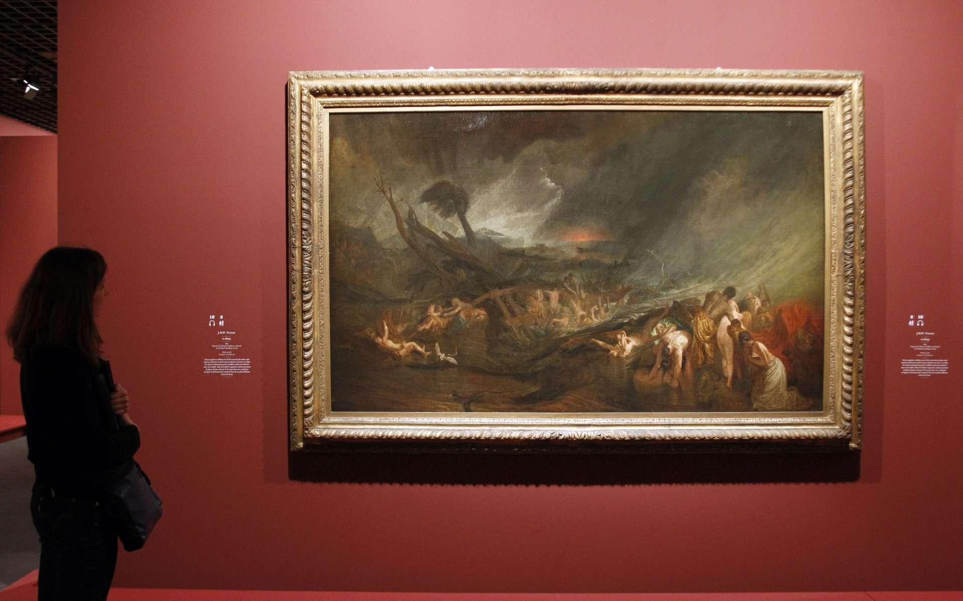 Le déluge, peint en 1805 par William Turner, grand maître des paysages. De tels tableaux peuvent renseigner sur le ciel de l'époque. © AFP Photo, François Guillot