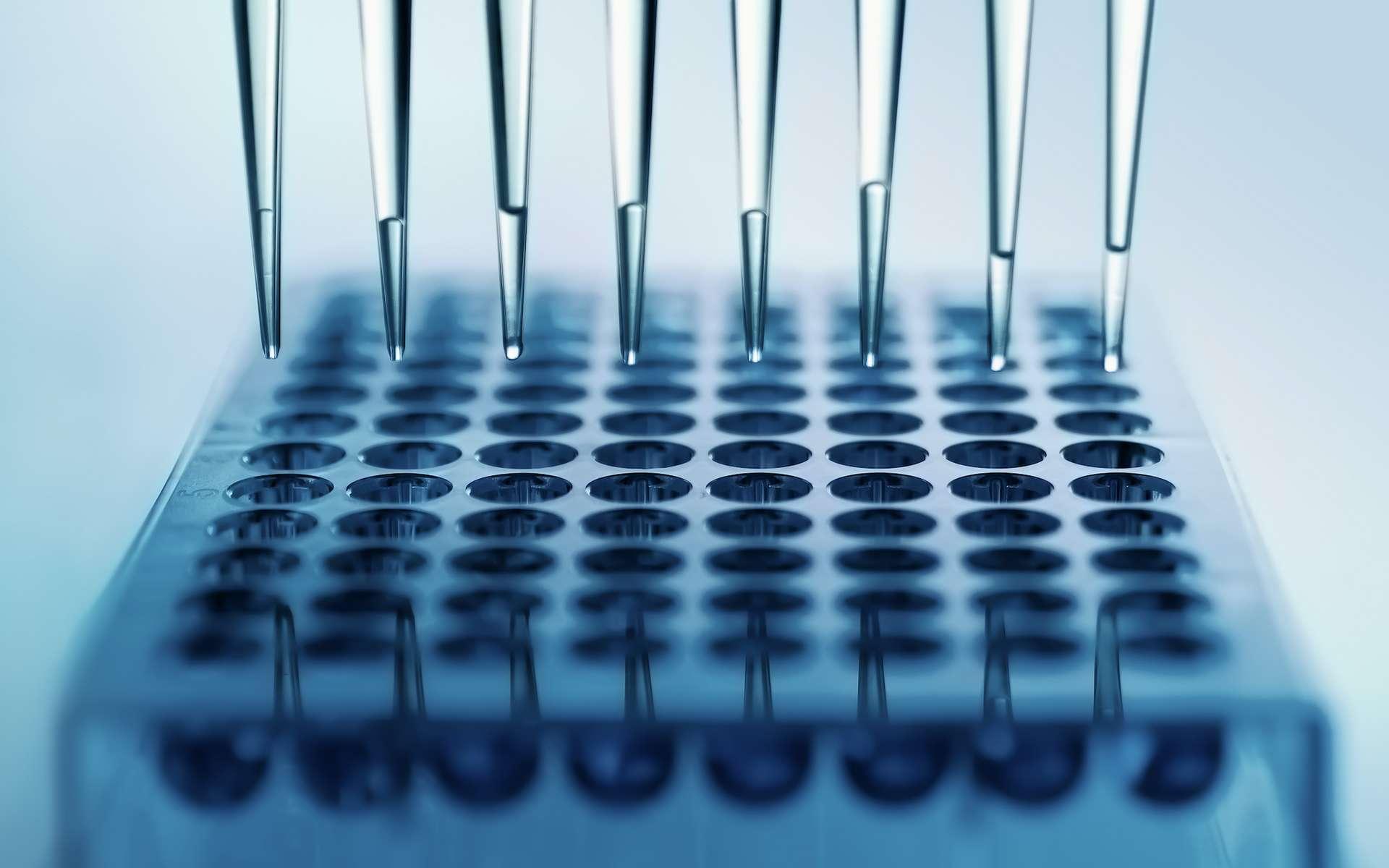 La microfluidique permet de miniaturiser les expériences biologiques et chimiques. © angellodeco, Adobe Stock