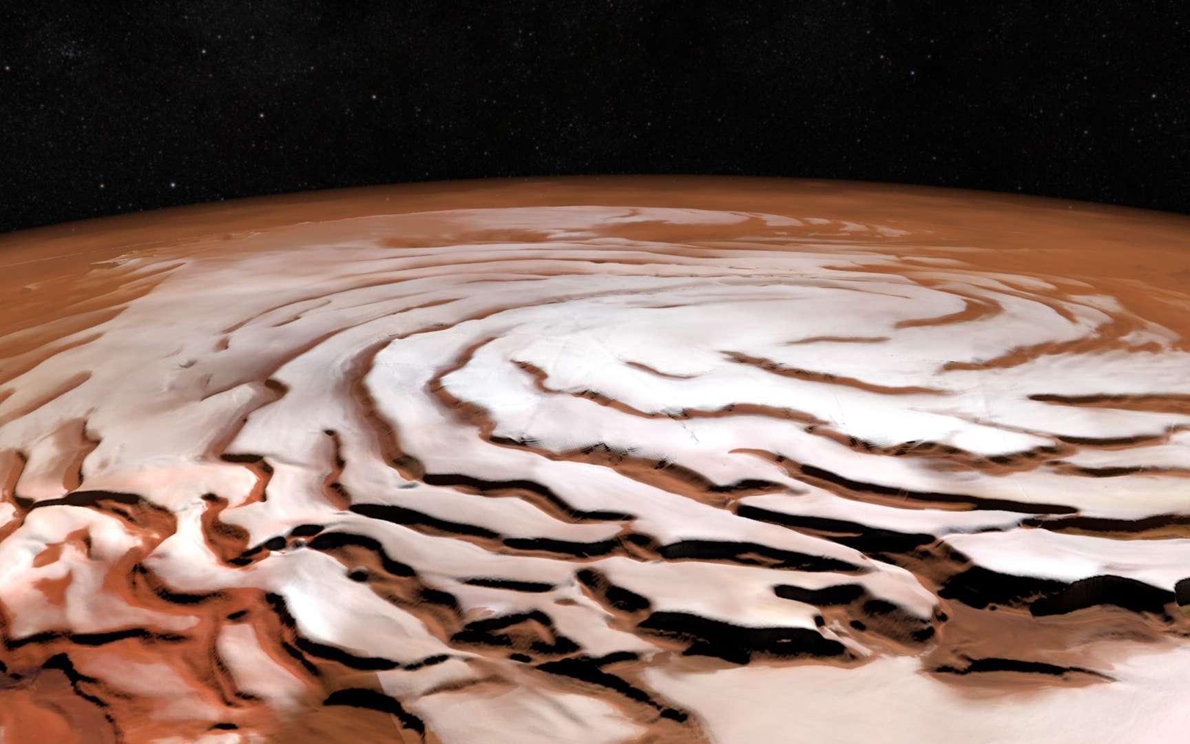 Vue du pôle Nord de Mars
