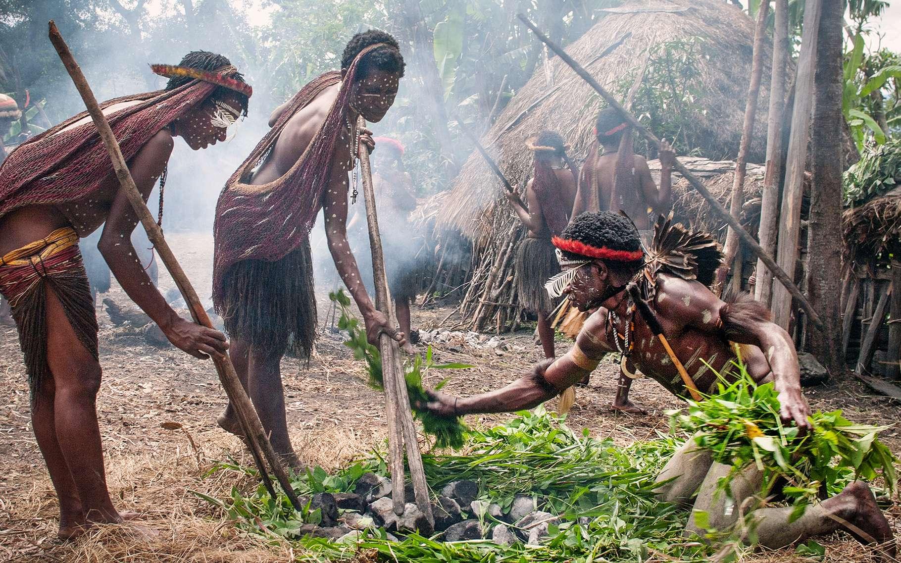 Les Papous forment un peuple de chasseurs-cueilleurs habitant l'île de Nouvelle-Guinée. © Byelikova Oksana, Shutterstock