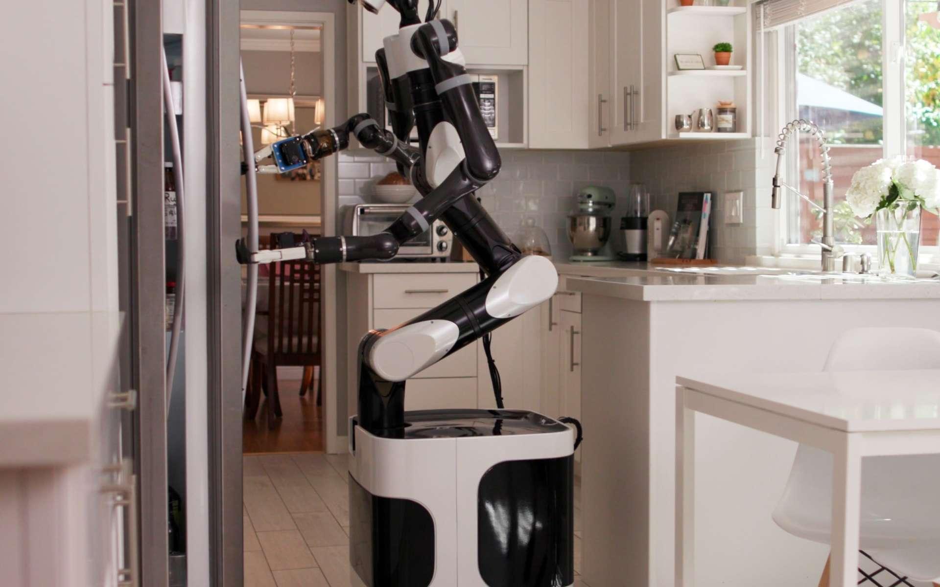 Le Toyota Research Institute (TRI) enseigne à des robots comment effectuer des tâches ménagères. © Courtesy of Toyota Research Institute assistive home robot