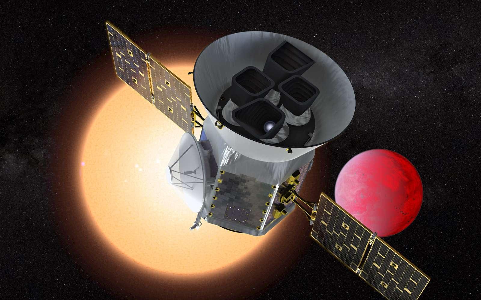 Une vue d'artiste du satellite Tess lancé en avril 2018. © NASA, GSFC
