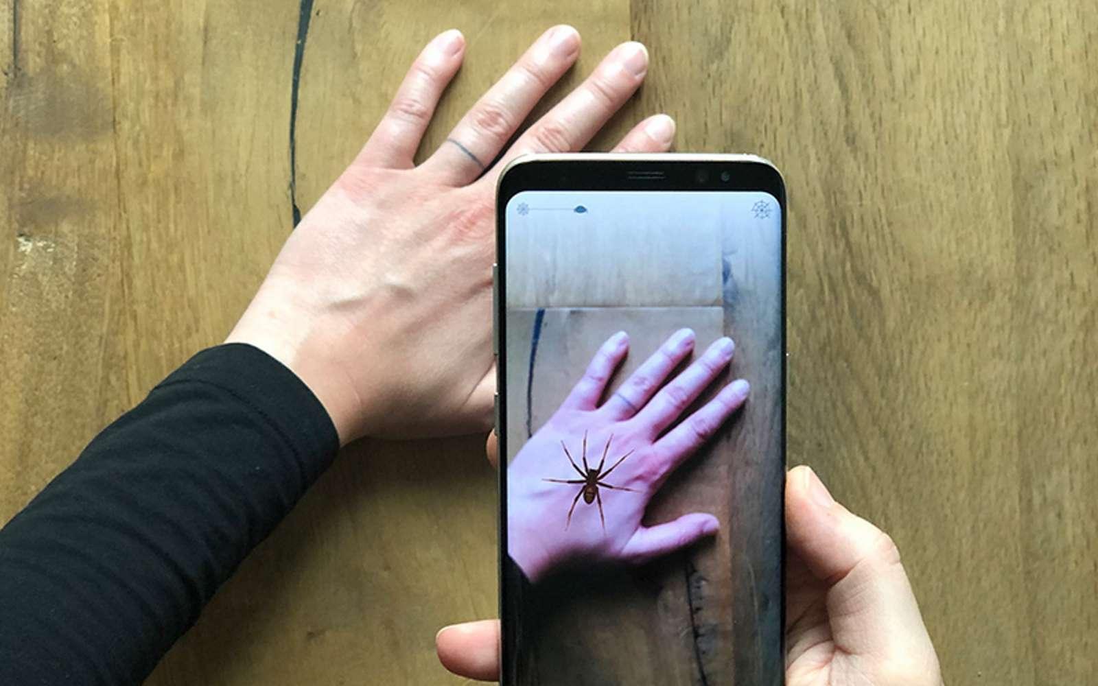 L'application Phobys permet de traiter l'arachnophobie. © Université de Bâle