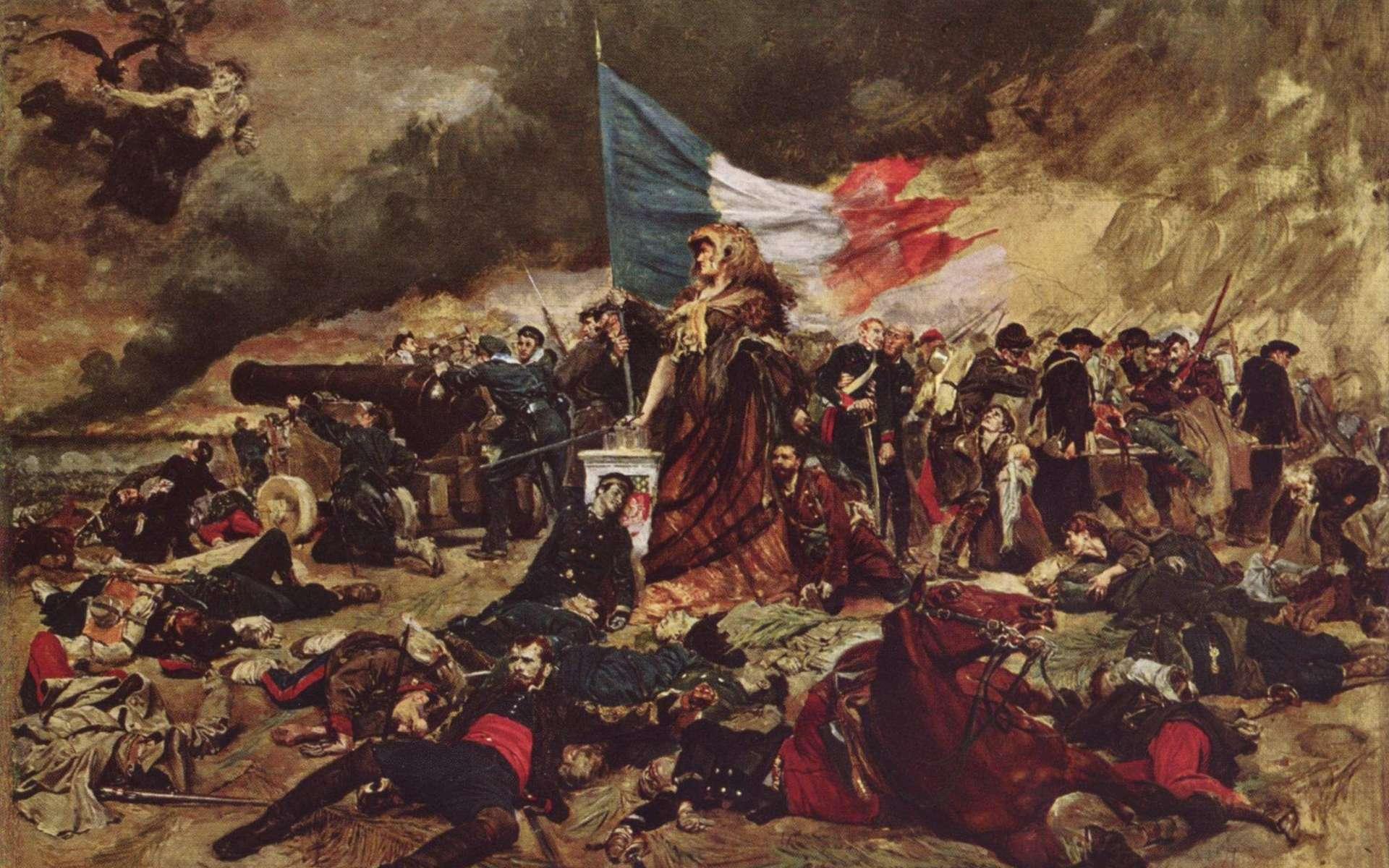 ''Le siège de Paris'' : ce tableau d'Ernest Messonier illustre la rudesse de la guerre de 1870. © Albrecht, Wikimedia Commons, Domaine public