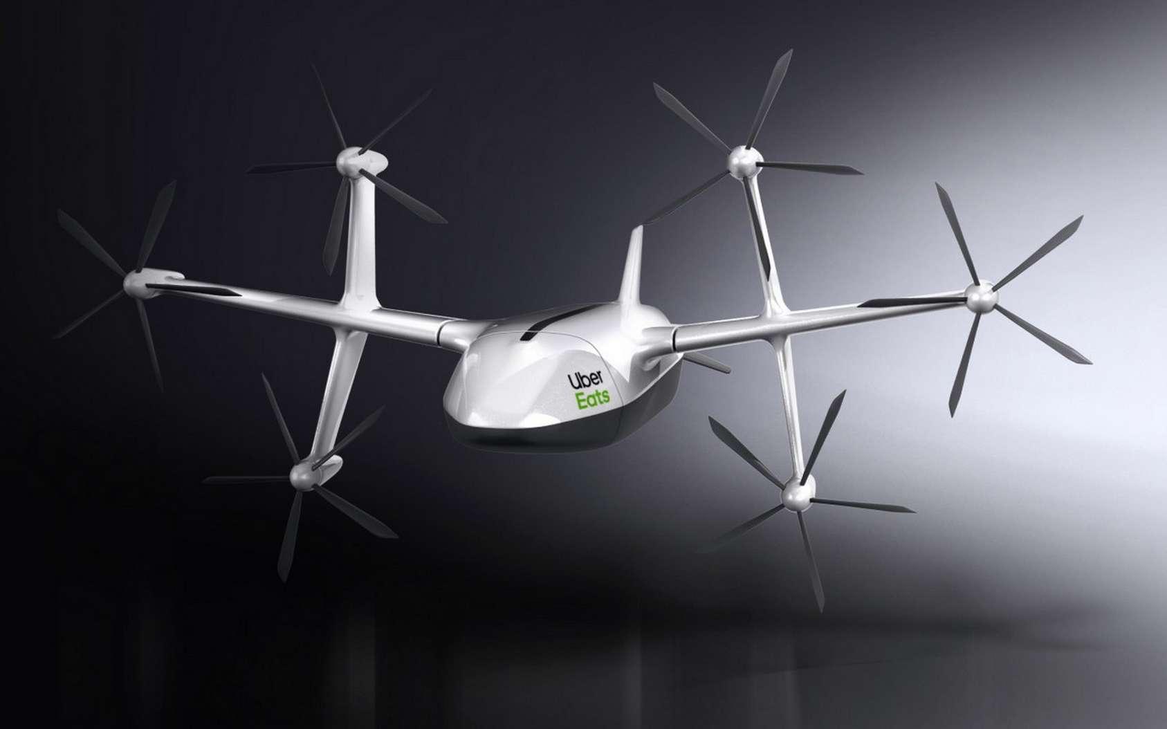 Voici à quoi ressemble le drone de livraison Uber Eats. © Uber Eats