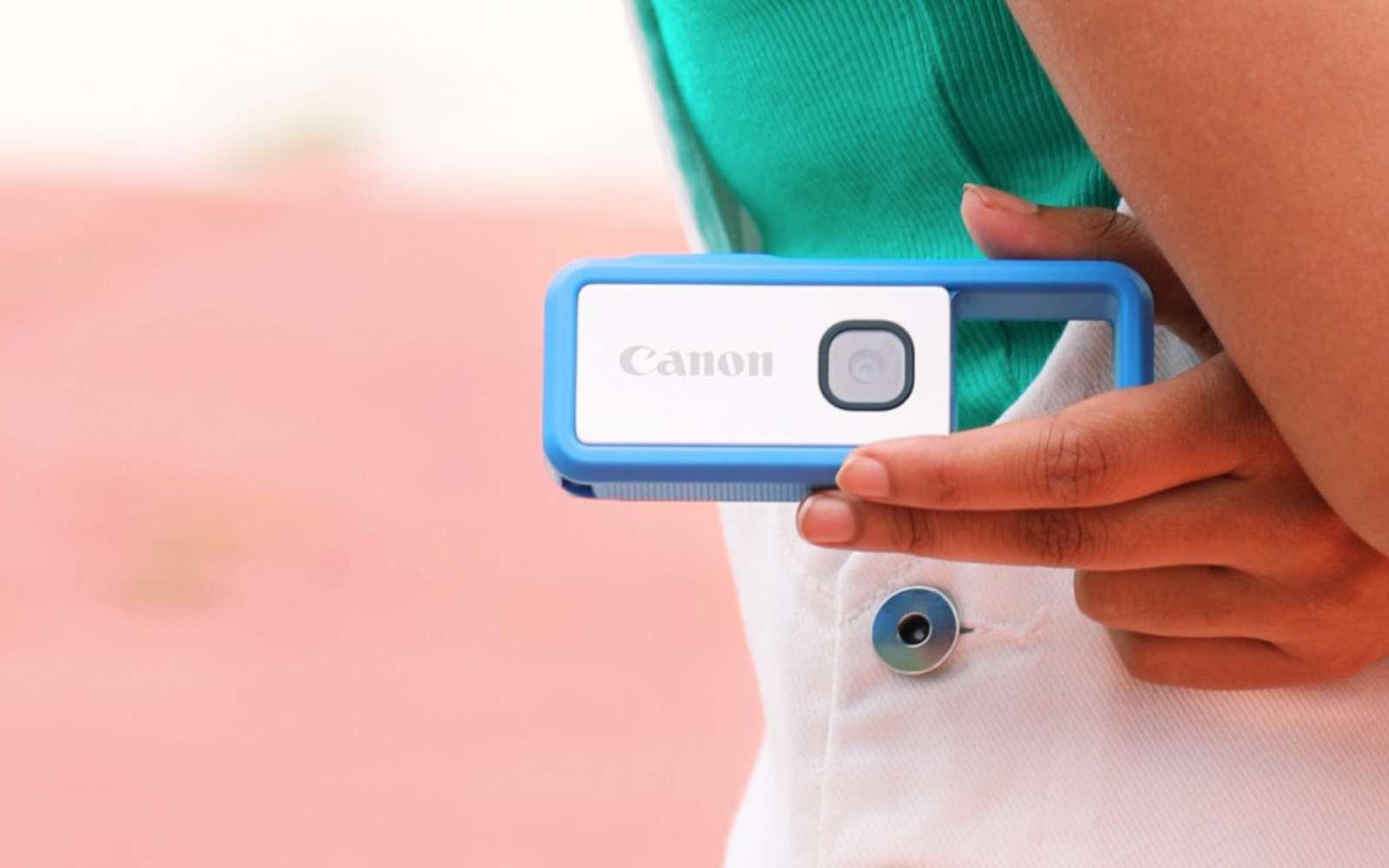 Les images ne sont pas stockées dans l'appareil mais envoyées dans le smartphone qu'on peut garder au fond de son sac ou de sa poche. © Canon