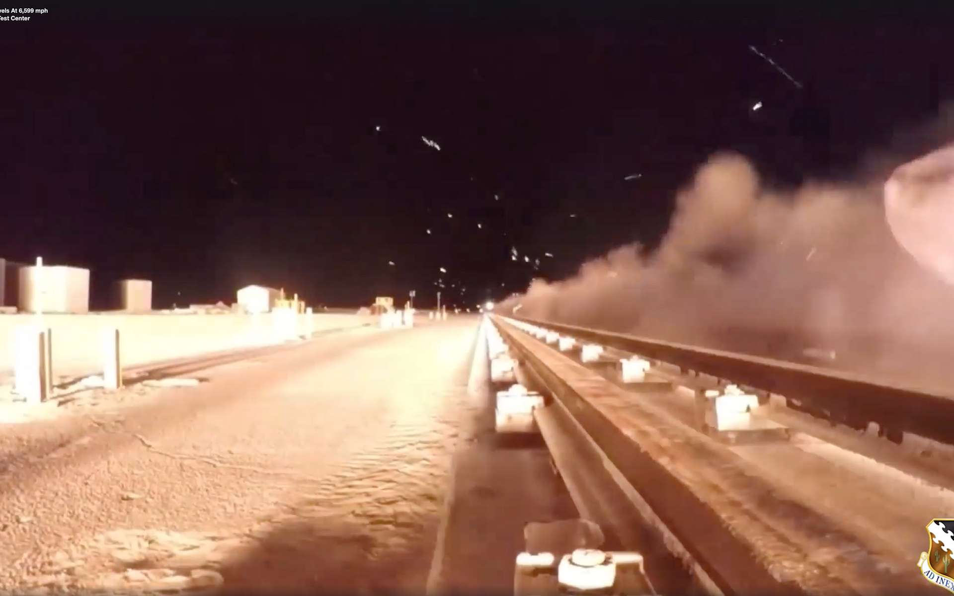 Essai d'un véhicule inconnu filant à la vitesse faramineuse de 10.620 kilomètres par heure. © Air Force Test Center