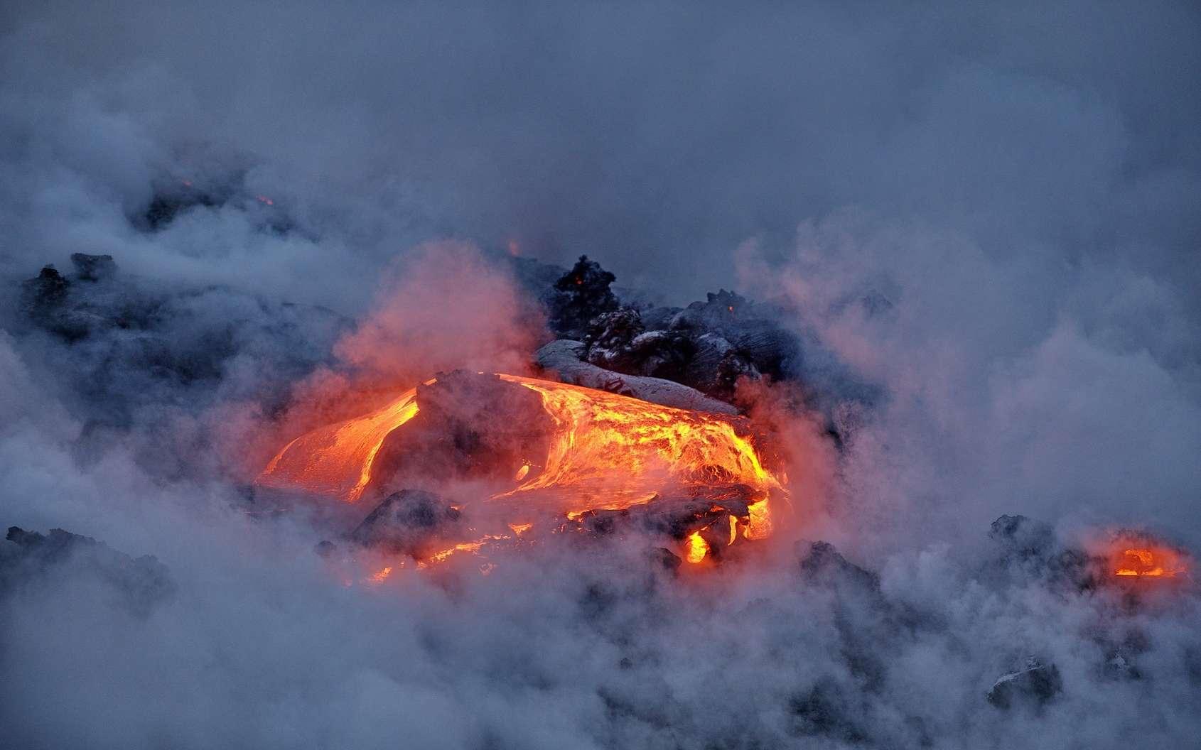 Le Kilauea est entré en éruption il y a une semaine. © Oleksandr Umanskyi, Fotolia