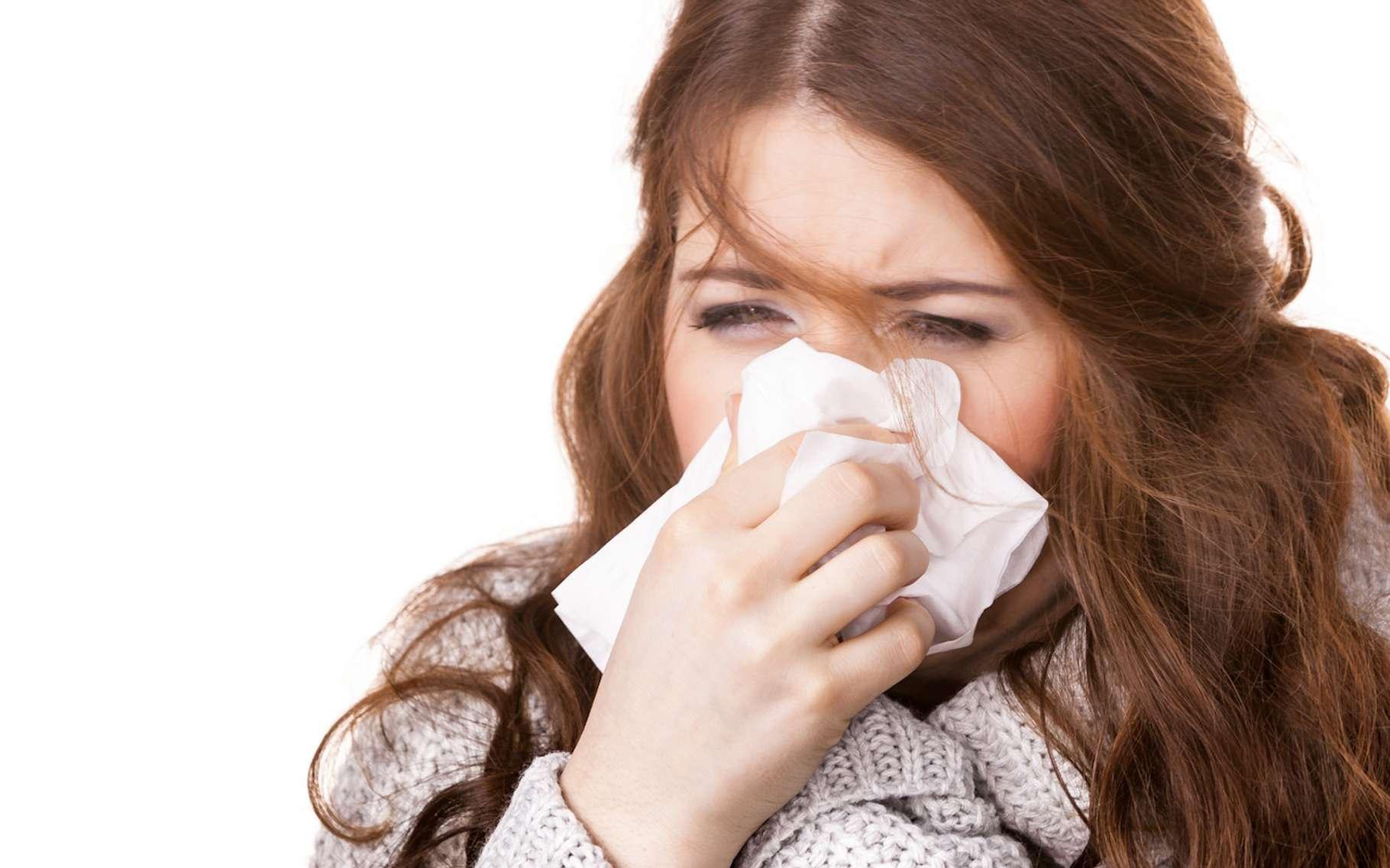 Des chercheurs ont découvert sur les picornavirus — parmi lesquels ceux responsables du rhume —, une poche jusqu'alors inconnue et dans laquelle un antiviral peut venir se loger pour empêcher la réplication du virus. © Voyagerix, Fotolia