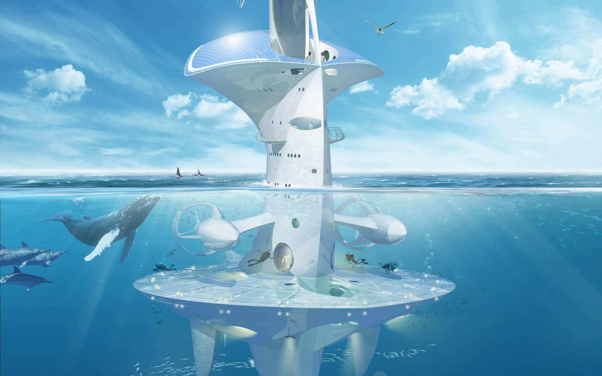 Le Sea Orbiter permet un travail et une vie permanente sur et dans l'océan. Actuellement, les campagnes des navires océanographiques ne permettent pas ce genre de travail. Les océanographes utilisent également, de plus en plus, des robots, téléguidés ou autonomes. Mais il leur manque toujours cette possibilité d'effectuer de longues missions au sein d'une masse d'eau pour en étudier différents aspects, du plancton aux rythmes quotidiens des écosystèmes. La réaction enthousiaste des océanographes à la mission Tara Oceans, qui a permis des stations de longues durées, démontre bien la réalité de ce besoin. © Sea Orbiter