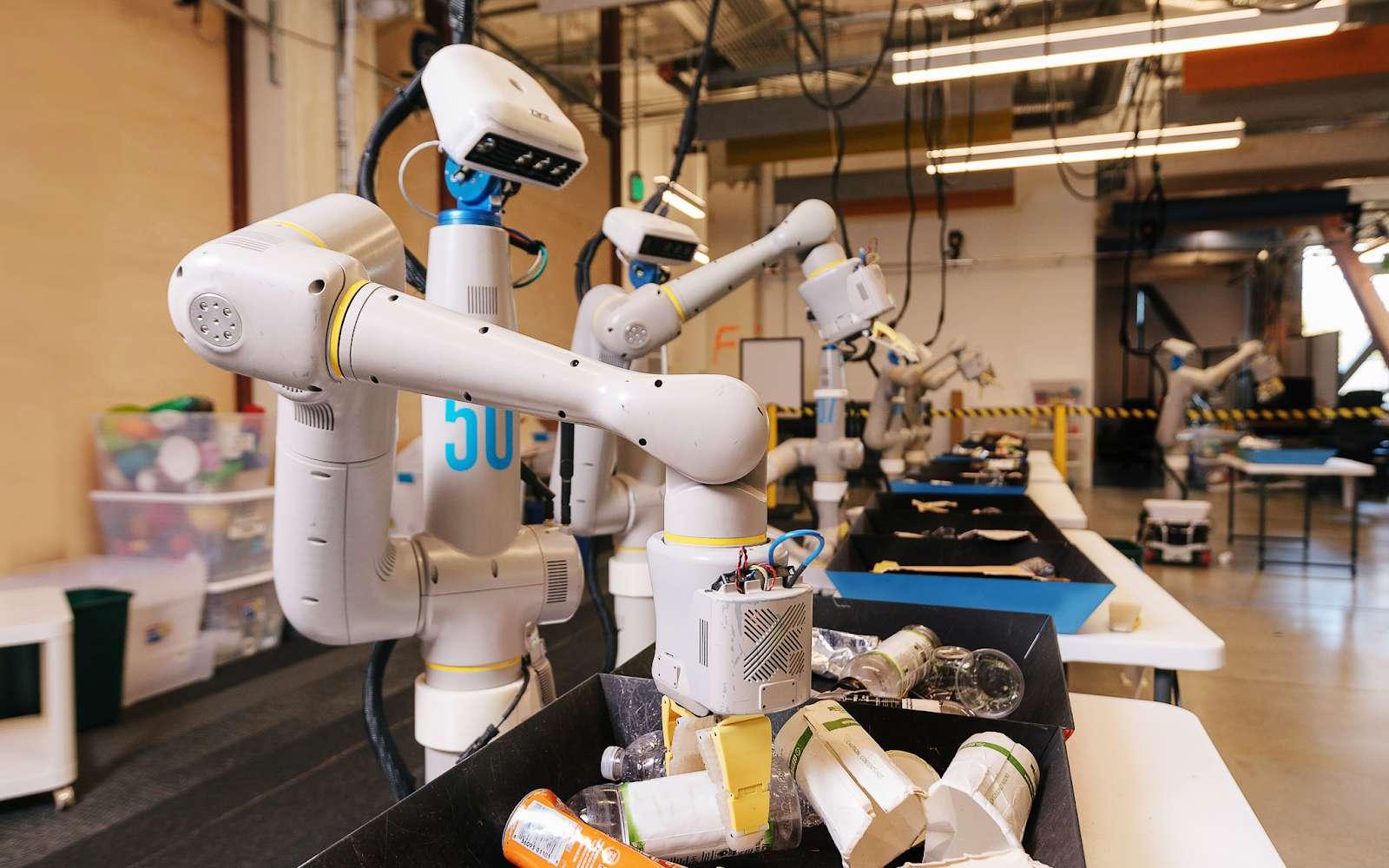 Quand l'Homme trie les déchets, il y a 20 % d'erreur. Avec un robot, ça tombe à 5 %. © X