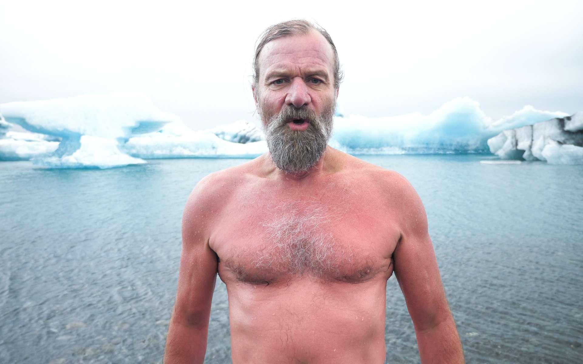 Wim Hof ou Iceman n'a pas peur du froid. © Wim Hof Method