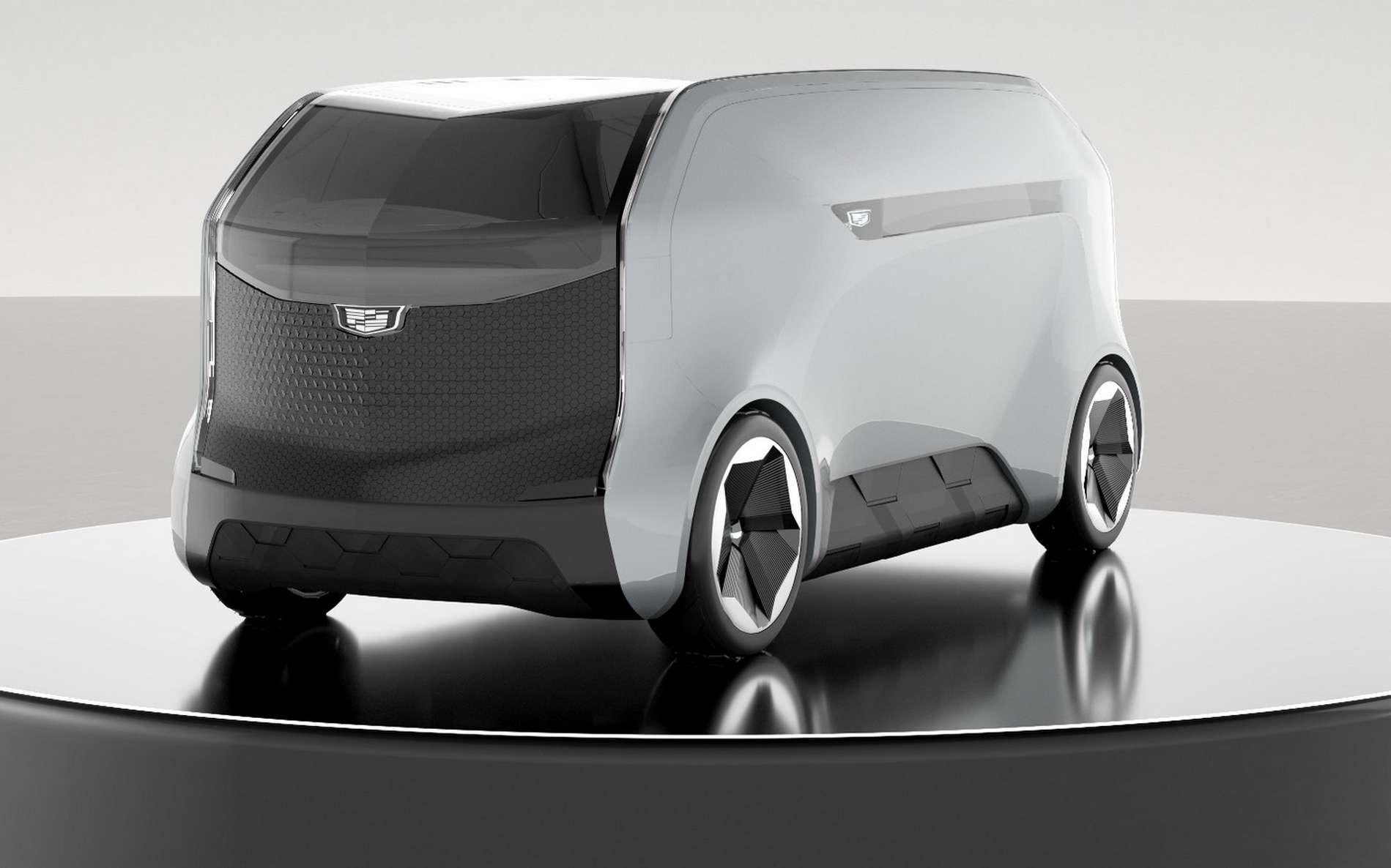 La voiture autonome électrique Cadillac Halo. © General Motors
