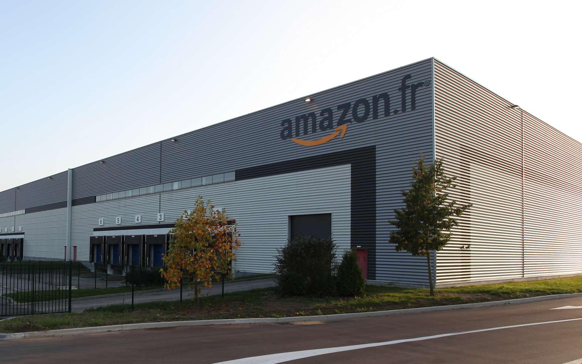 Le centre logistique d'Amazon à Chalons, en France. © Amazon