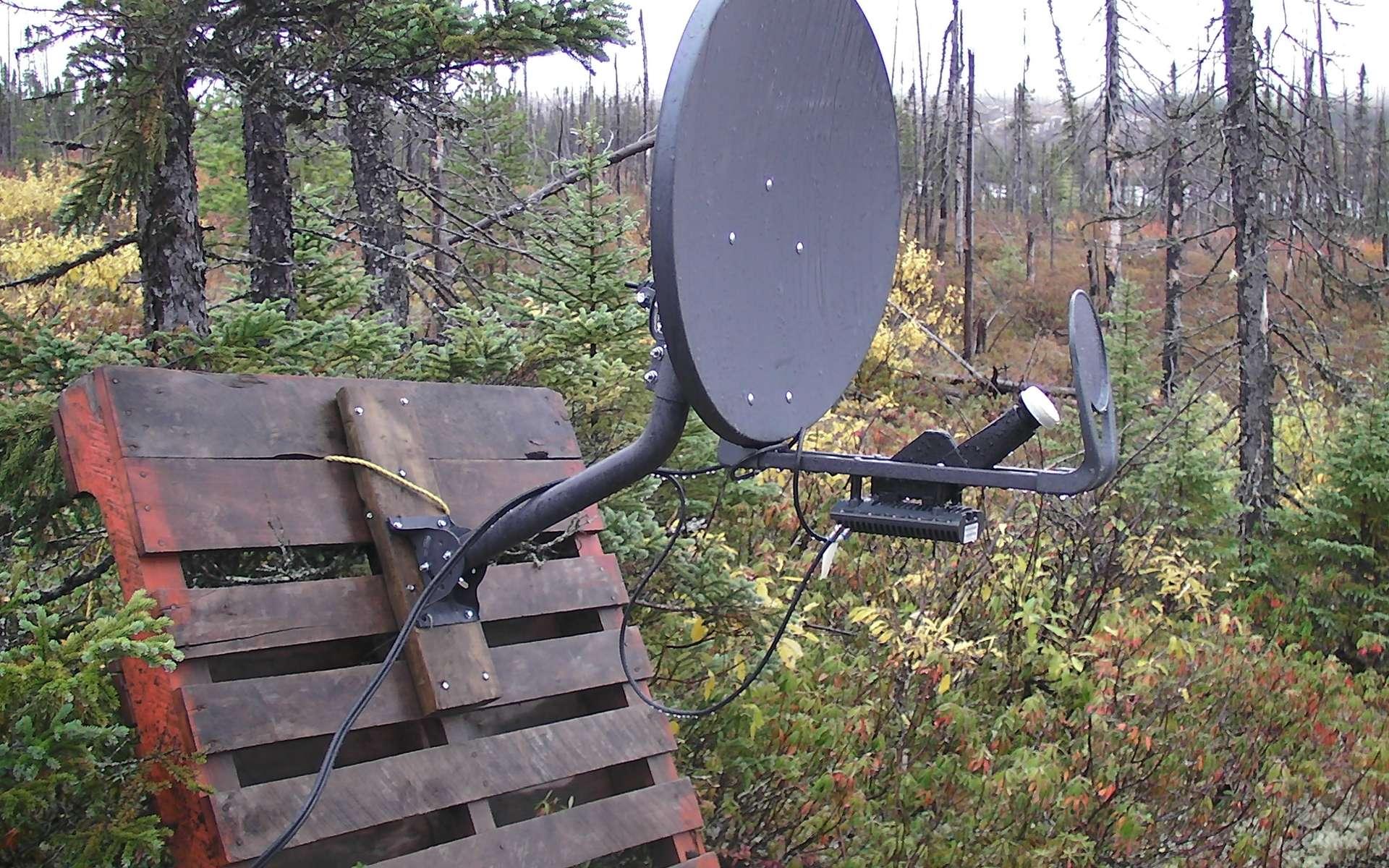 L'installation d'une parabole permet de recevoir la télévision partout. © Peupleloup, Flickr, CC BY-SA 2.0