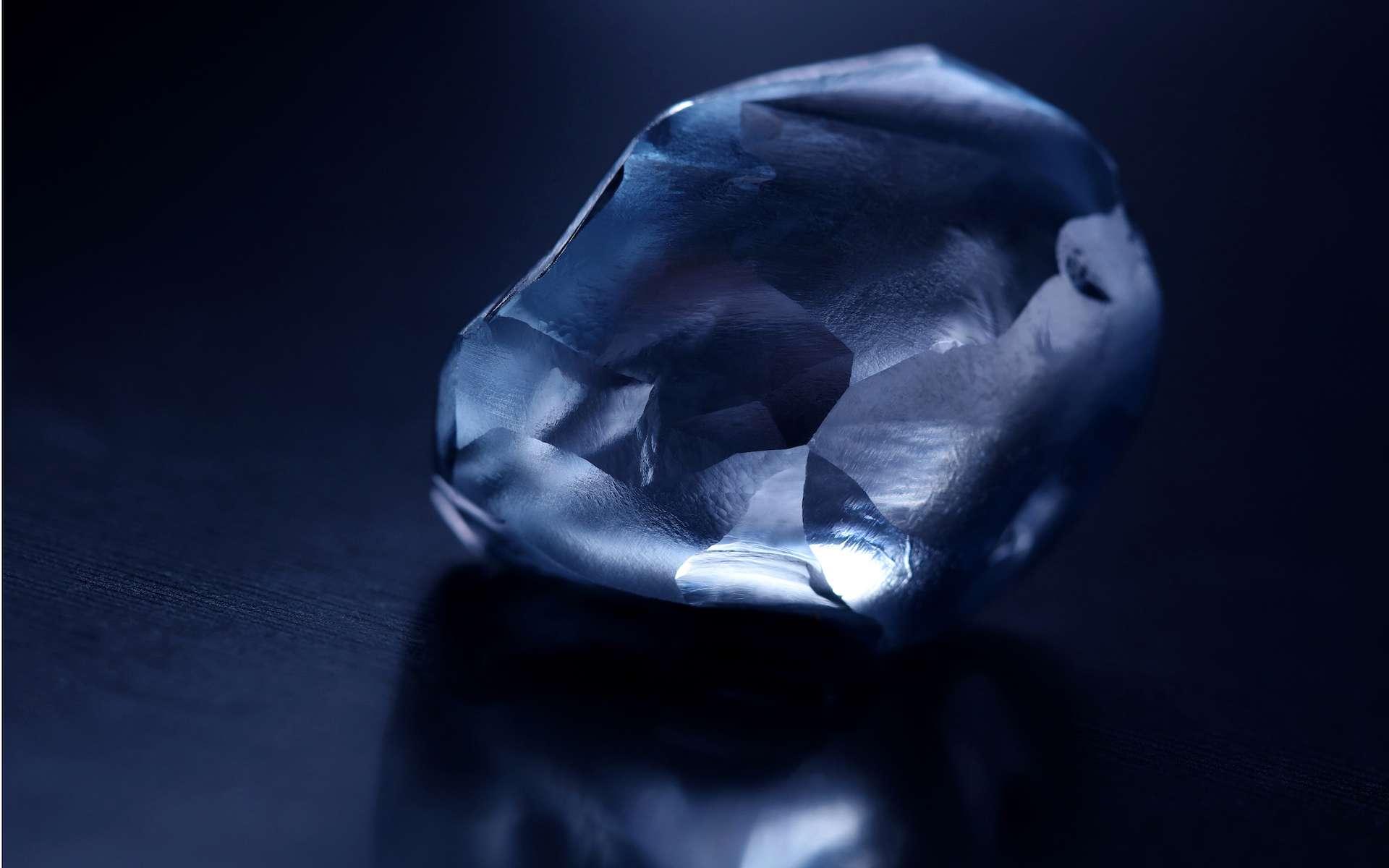 Un gros diamant bleu vient d'être découvert au Botswana. © Okanvango Diamond Company
