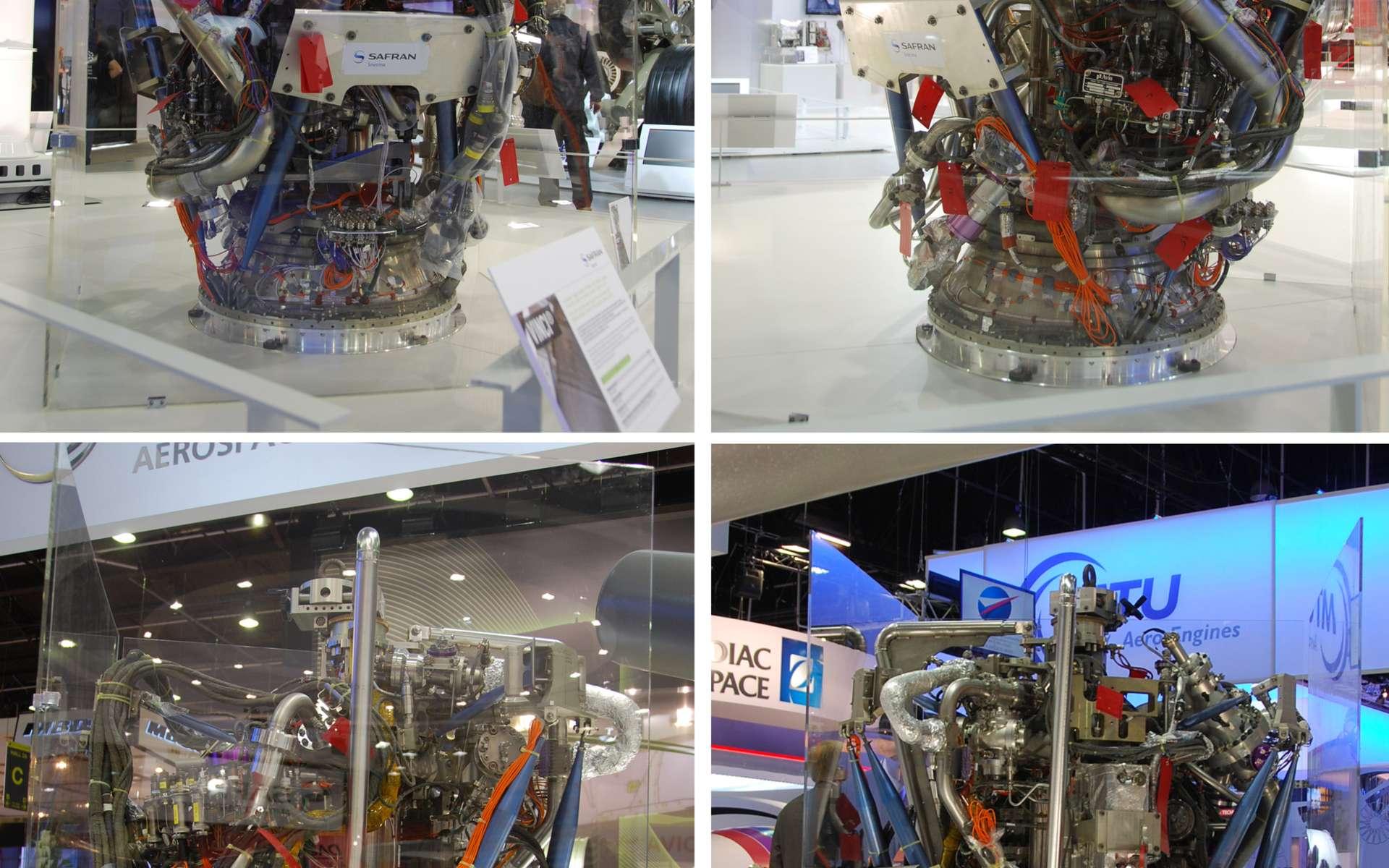 Le moteur Vinci sur le stand de Safran (Hall A). Il s'agit d'un véritable moteur. Aucun élément n'est factice. © Rémy Decourt