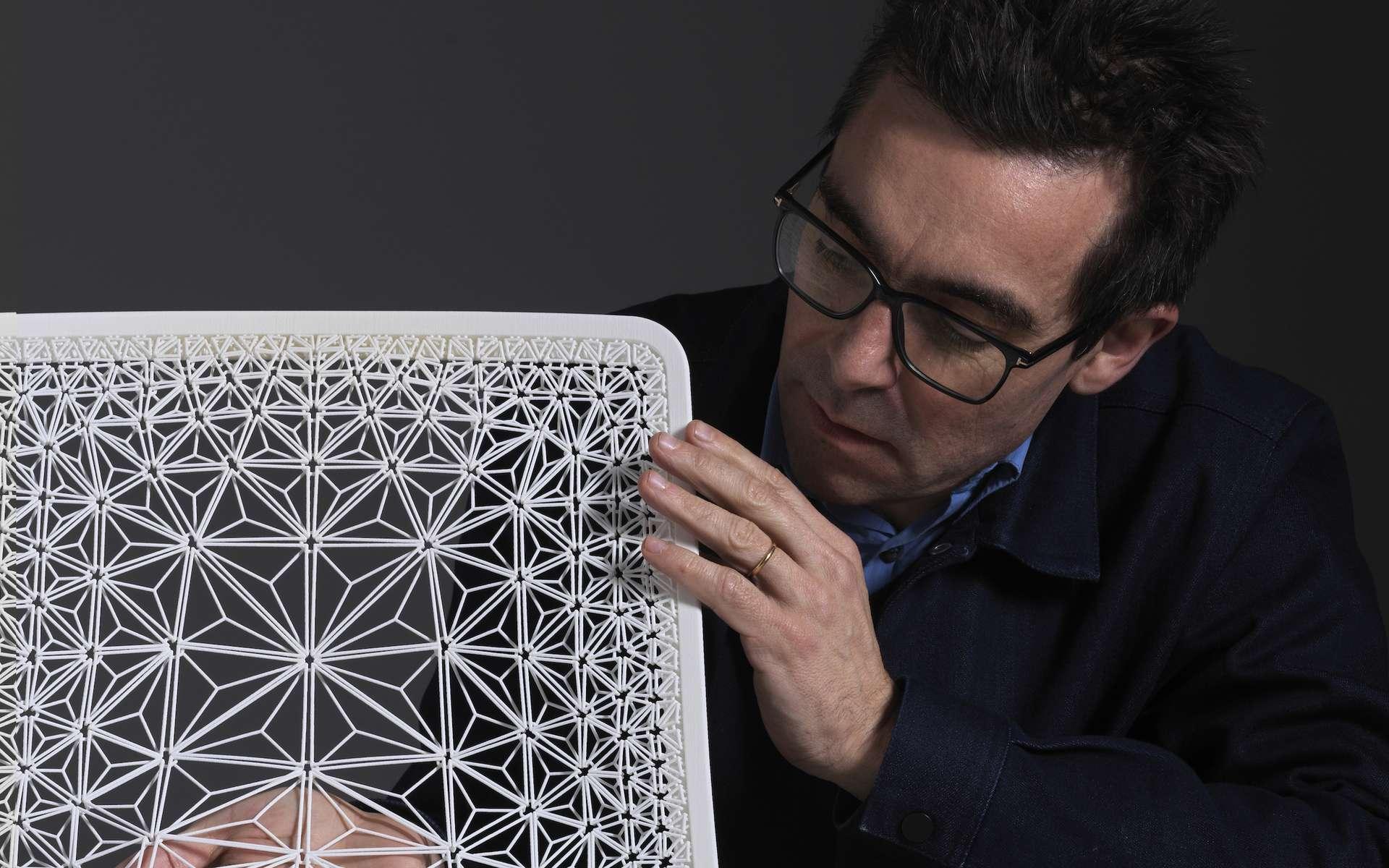 La chaise imprimée en 3D du designer français Patrick Jouin. © Thomas Duval