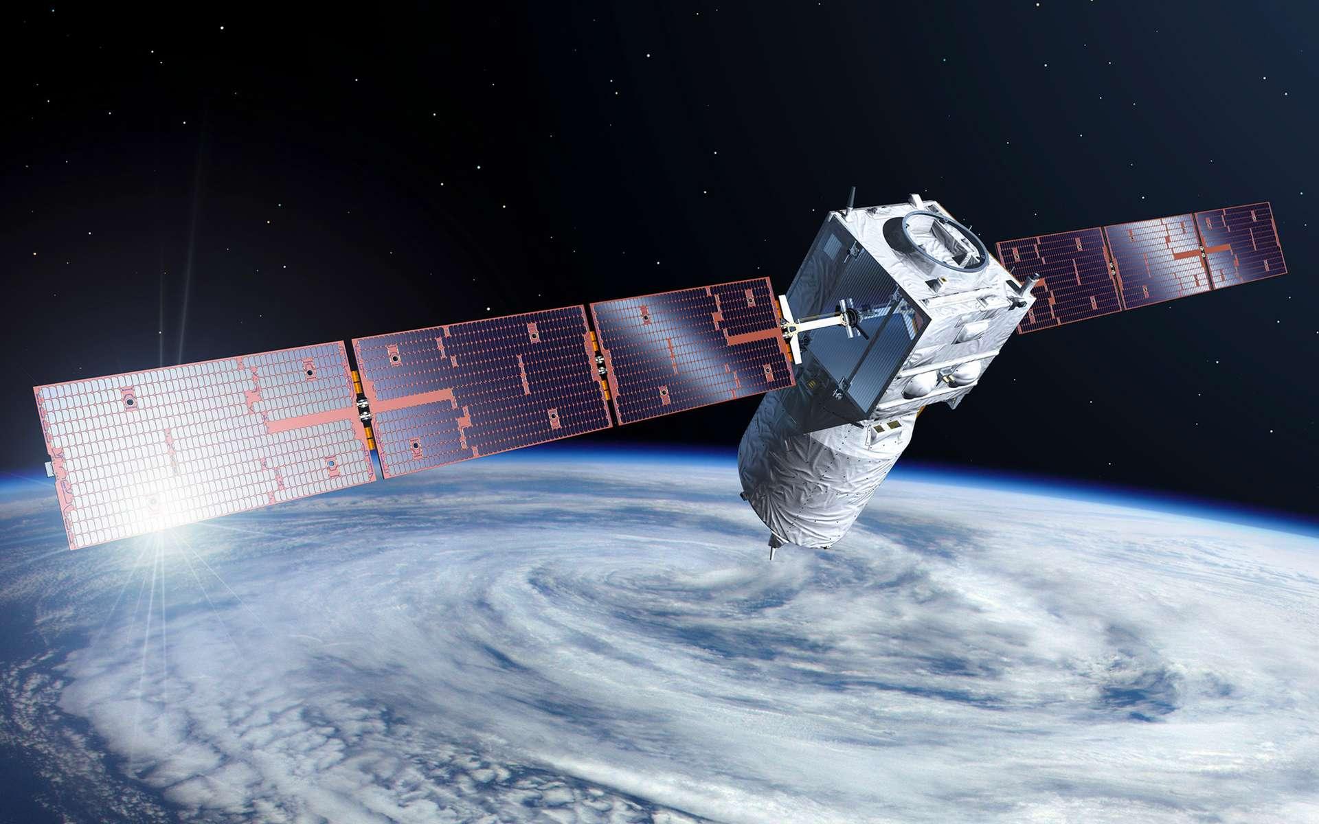 Construit par Airbus pour le compte de l'ESA, Aeolus est satellite inédit conçu pour mesurer les vents sur l'ensemble du Globe. © ESA, P. Carril