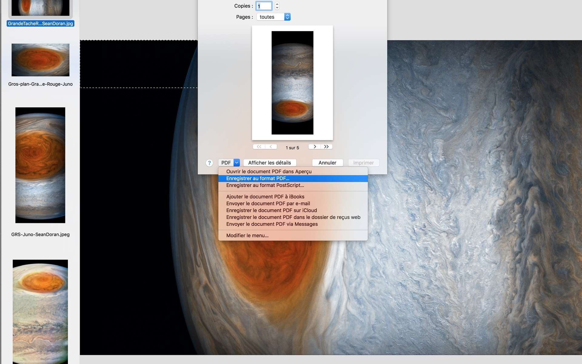 Comment créer un PDF depuis n'importe quel document sur Mac (Mac OS X). © Futura-Sciences