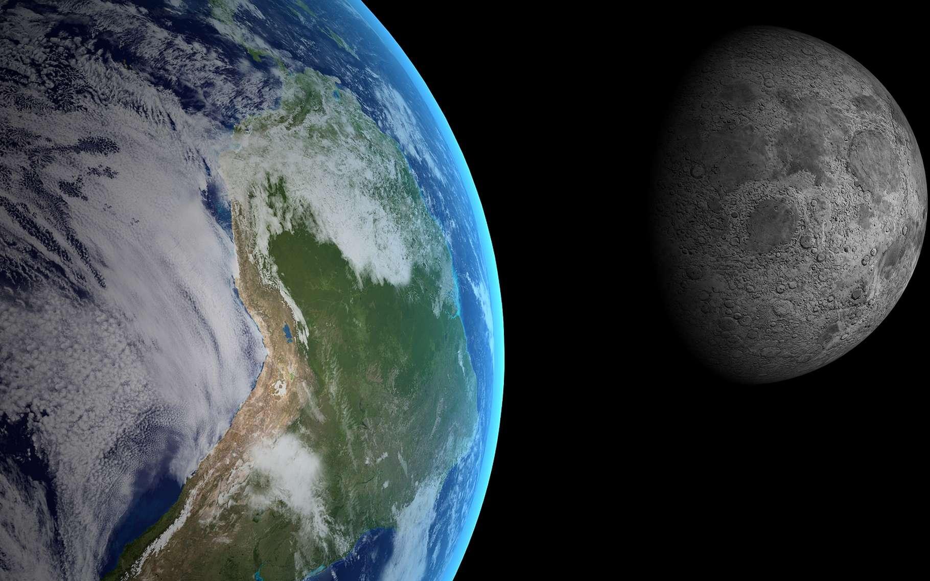Isaac Newton suggéra que la force qui nous retient au sol est la même que celle retenant la Lune autour de la Terre. Il découvrit la loi de la gravitation. © mr.Timmi, Shutterstock
