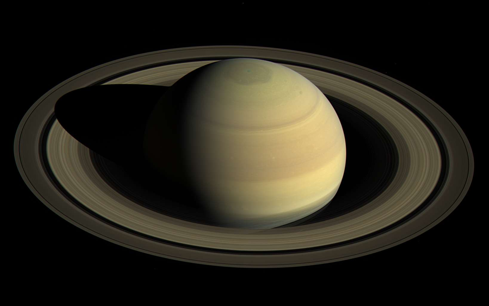 Saturne photographiée par la sonde Cassini le 25 avril 2016. © Nasa, JPL-Caltech, Space Science Institute