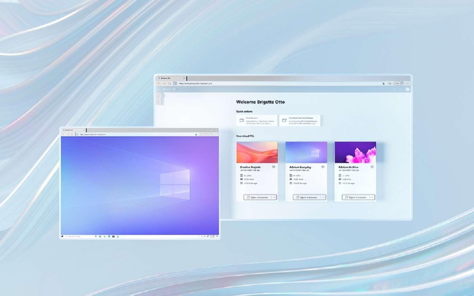 C'est via un navigateur ou une application qu'il sera possible d'accéder à Windows 365. © Microsoft
