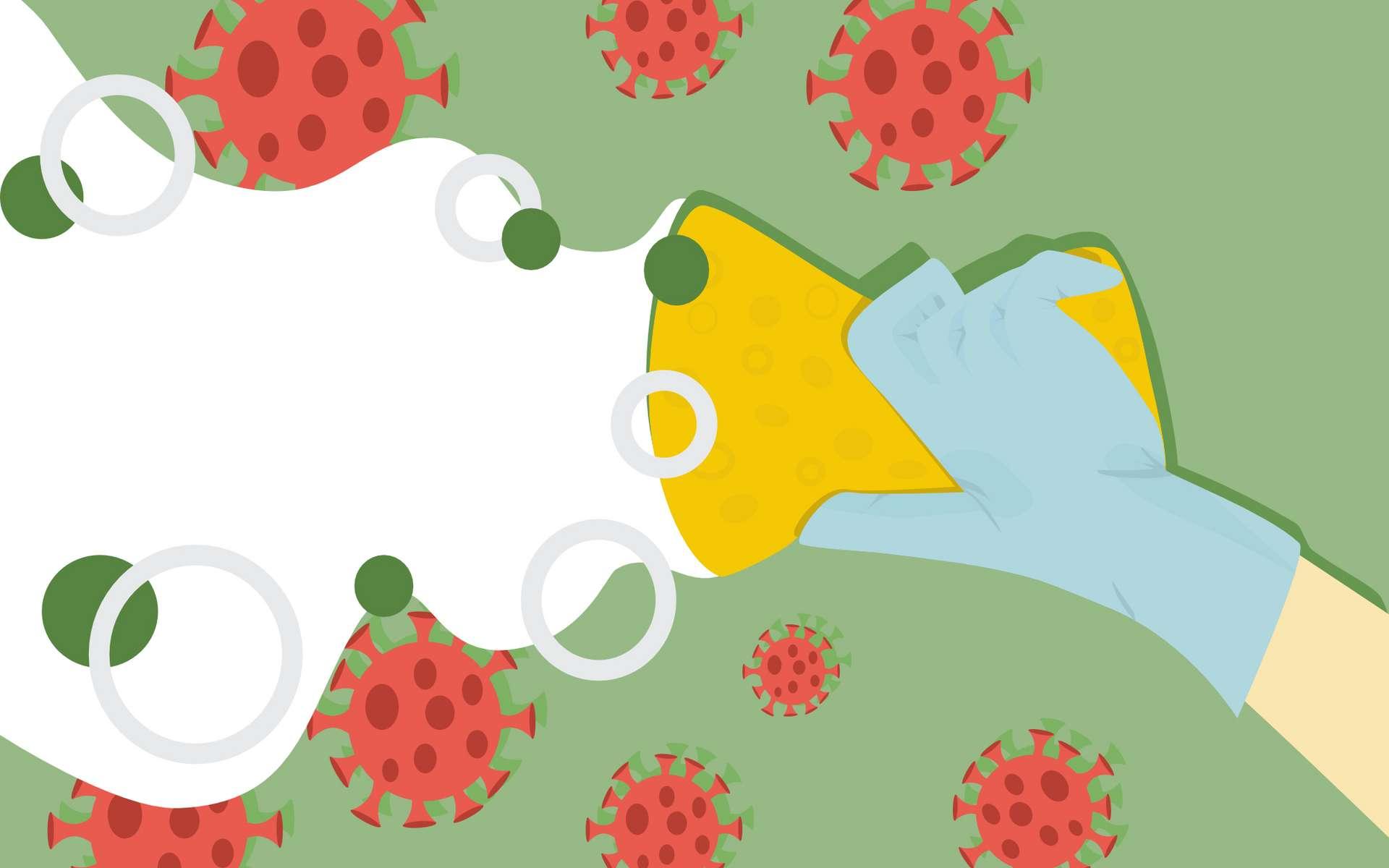 Les nanoéponges pour leurrer les virus. © Asia, Adobe Stock