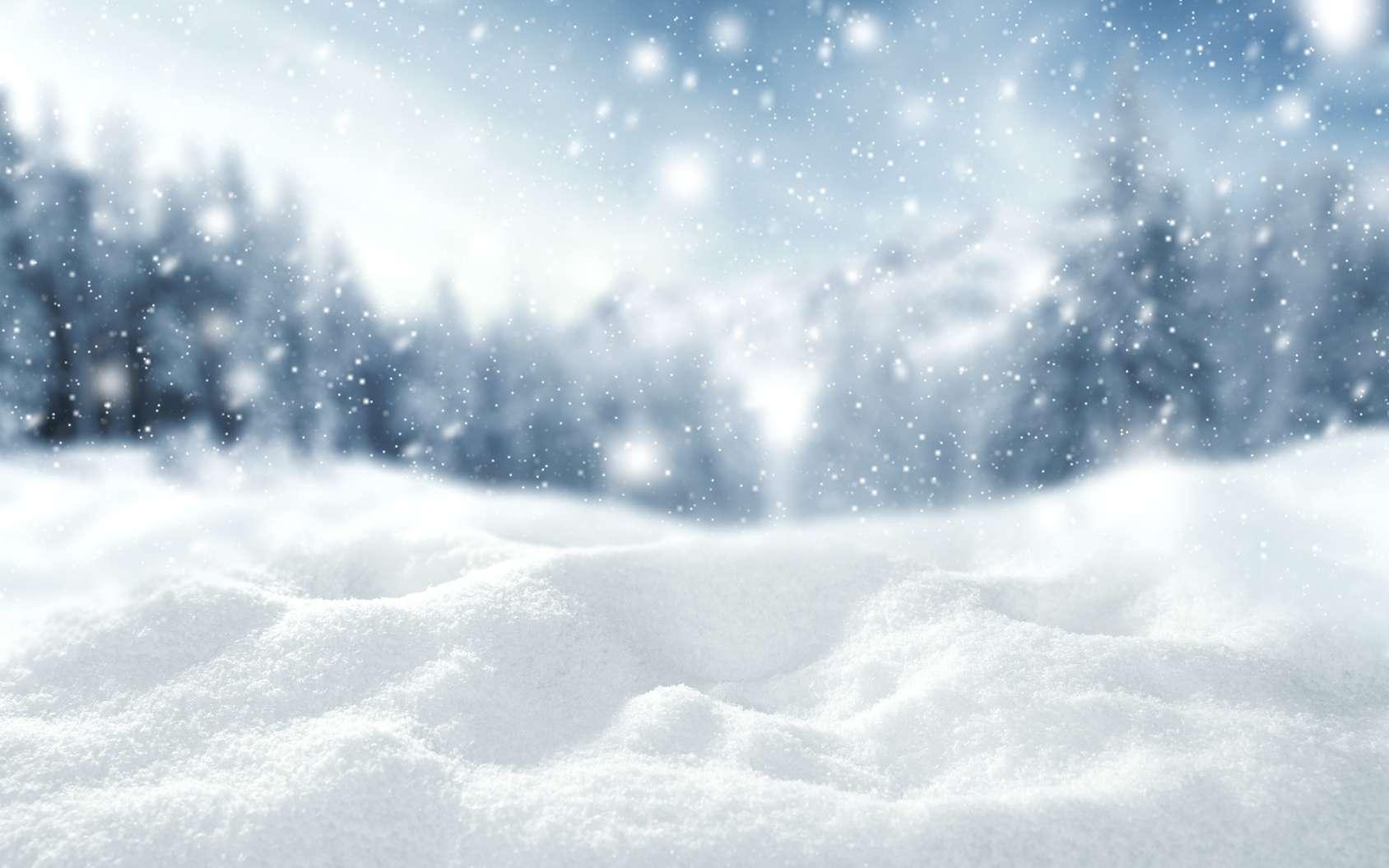 La formation de la neige dépend de plusieurs conditions. Avant de tomber sur la terre ferme, les cristaux de glace à l'origine des flocons de neige naissent et se développent au cœur de nuages froids chargés de particules volatiles. © magdal3na, fotolia