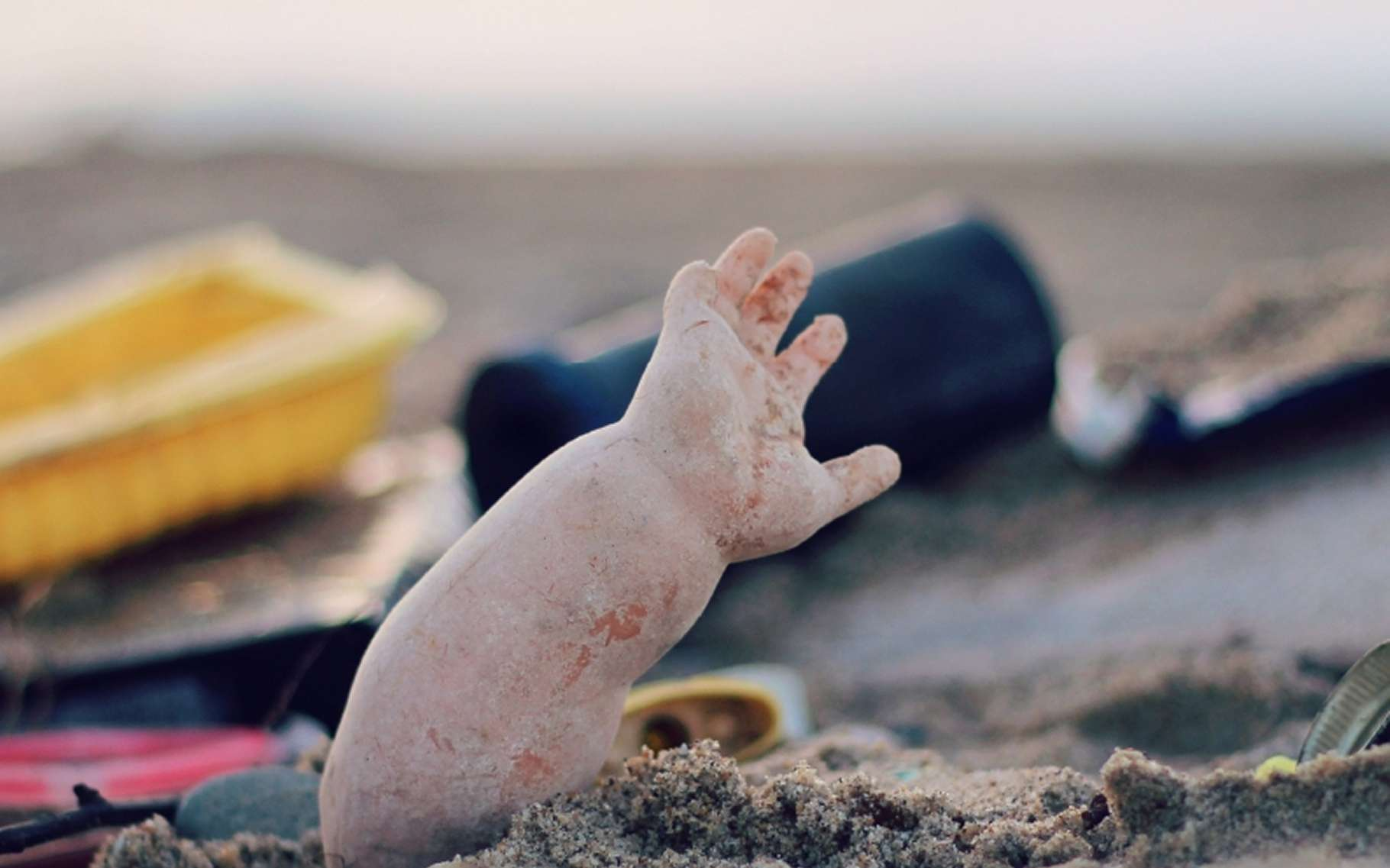 Outre qu'ils transforment le littoral en dépotoir, les déchets témoignent de la quantité d'objets rejetés en mer par les activités humaines. La pollution n'est pas que visuelle car la matière plastique, principal constituant de ces résidus, se fractionne jusqu'à des dimensions minuscules, qui la rendent ingérable par tous les animaux de la chaîne alimentaire. © SurfRider