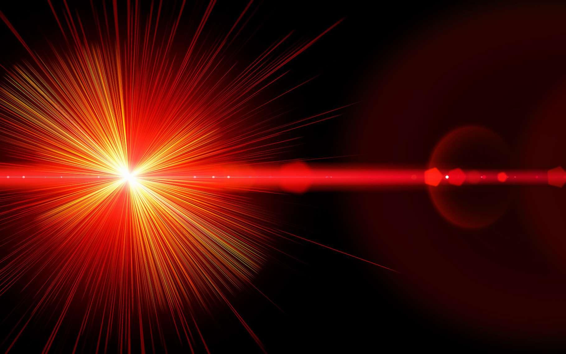 Une vue d'artiste d'un laser. © Fotolia, psdesign1