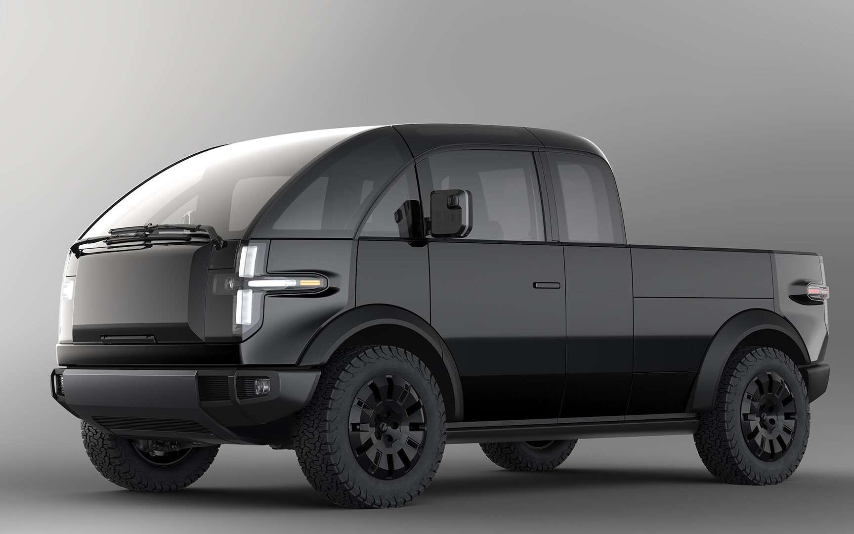 Pickup électrique : Canoo s'attaque au Tesla Cybertruck avec un design futuriste - Futura