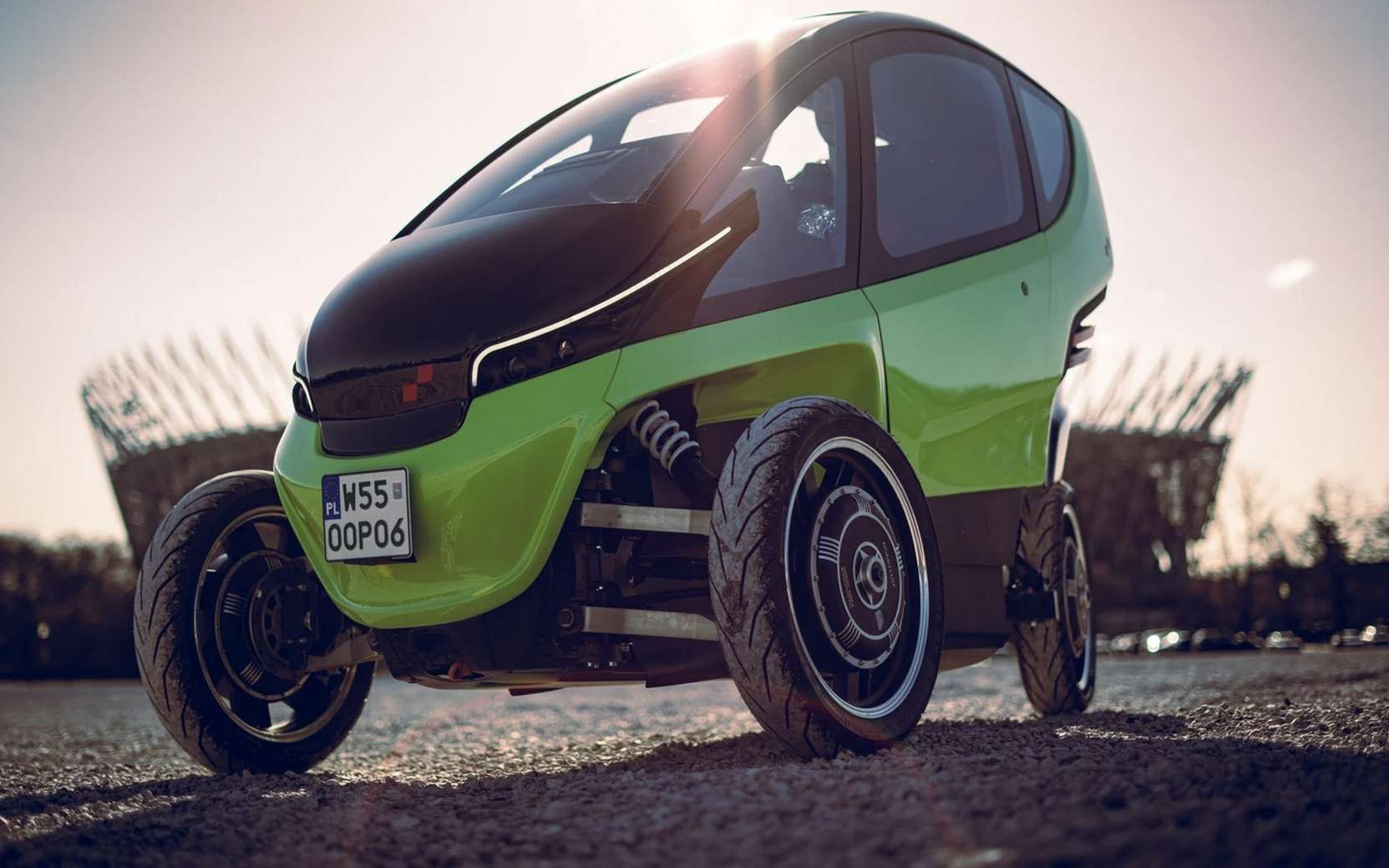 La microvoiture électrique Triggo pourrait séduire une clientèle jeune et urbaine qui n'a pas besoin d'une voiture classique pour ses trajets quotidiens. © Triggo