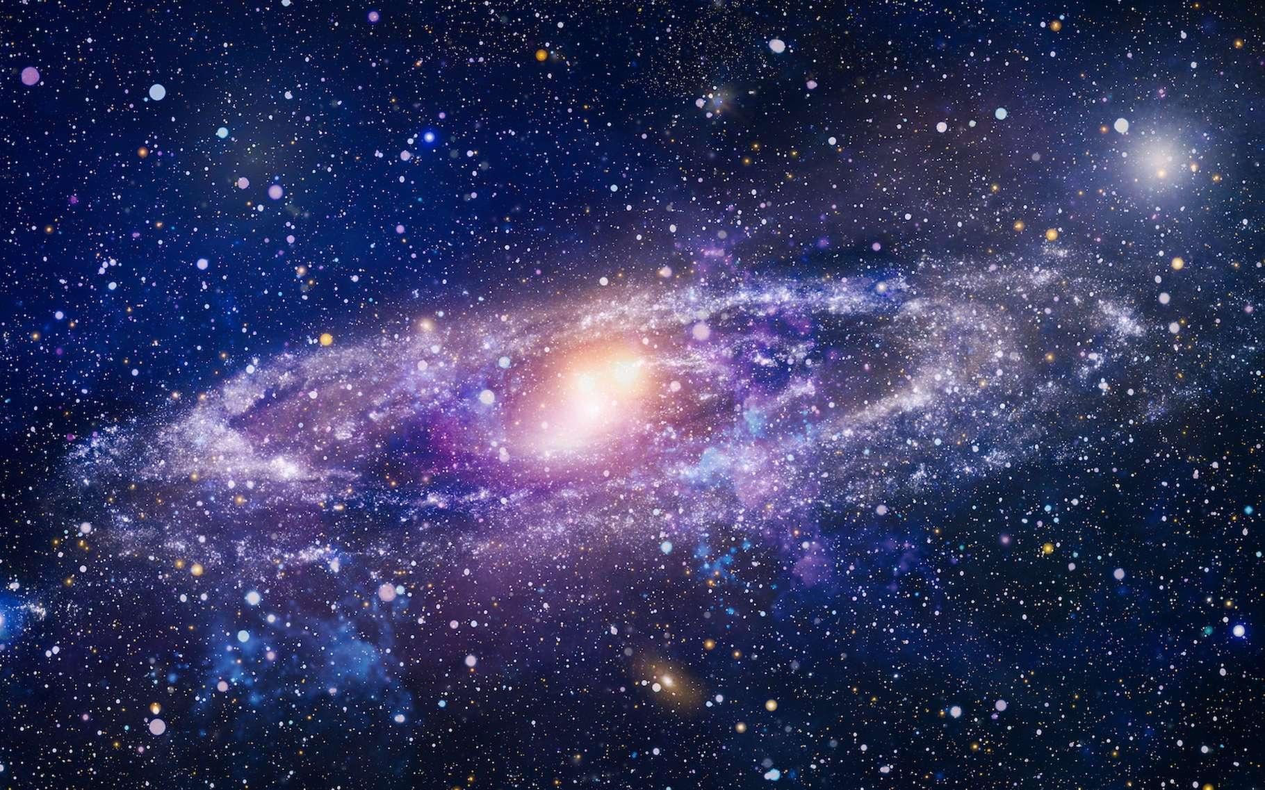 Selon les calculs des astronomes, il manque de la matière à notre Univers. Les étoiles seules ne font pas le compte. Mais aujourd'hui, une équipe est enfin parvenue à observer une partie de celle que les chercheurs désignent sous le terme de matière manquante. Dans un halo de gaz entourant une galaxie. © Maximusdn, Adobe Stock