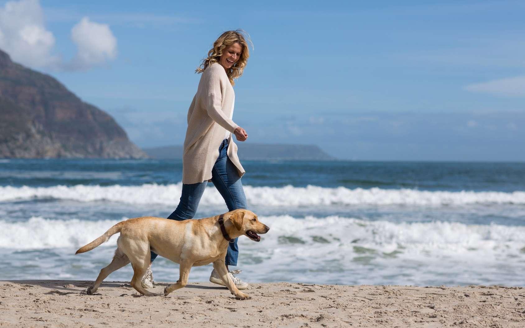 Le chien aide et favorise le maintien de l'activité physique. © WavebreakMediaMicro, Fotolia