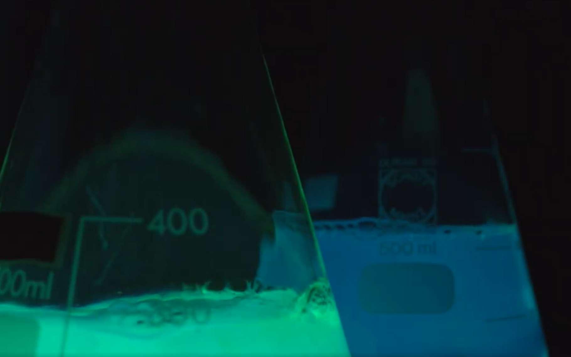 Expérience et explications sur le luminol. © Futura & ENS de Lyon
