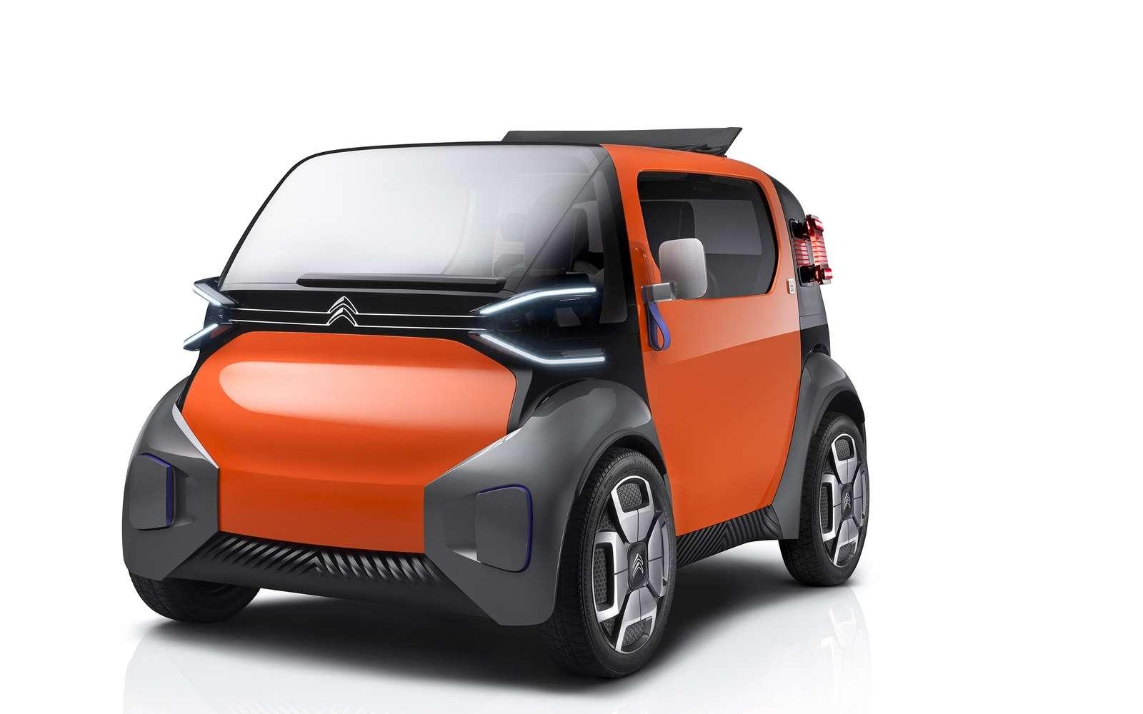 L'Ami One Concept de Citroën se réclame de la 2 CV. © Citroën