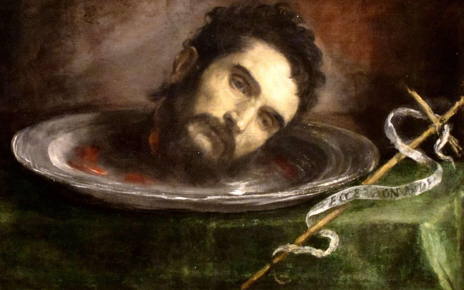 La tête décapitée de Jean le Baptiste, sur un plateau. © Cleveland Museum of Art