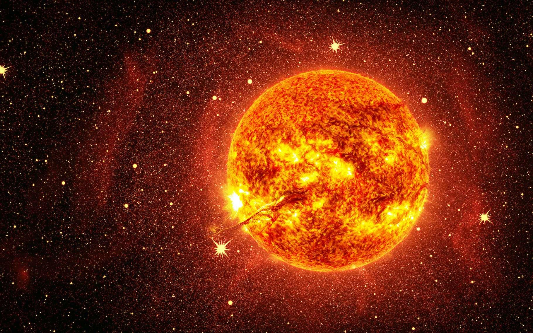 Des chercheurs du Max Planck Institute (Allemagne) ont découvert que notre Soleil est moins actif que les étoiles qui lui ressemblent. © robert, Adobe Stock