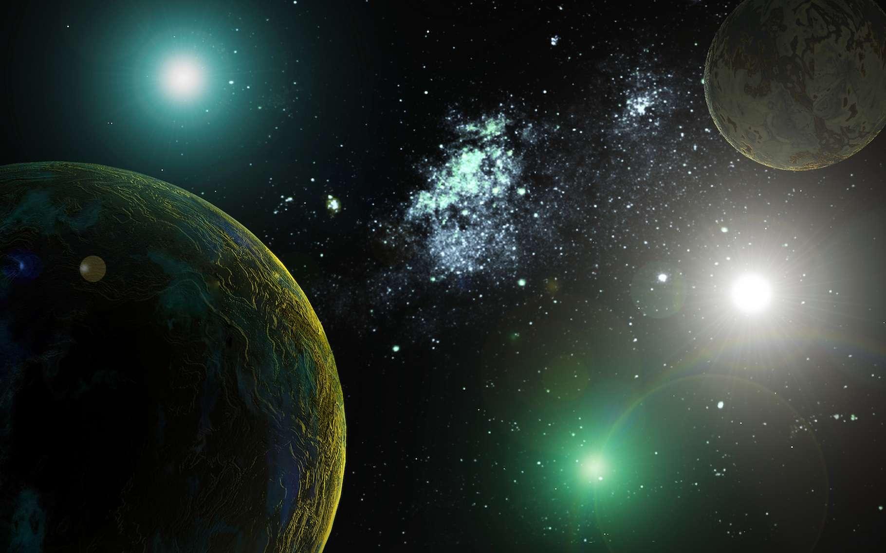 La nouvelle exoplanète découverte par des astronomes de Harvard (États-Unis) orbite autour de la plus brillante des étoiles de LTT 1445. © Sergey Drozdov, Fotolia