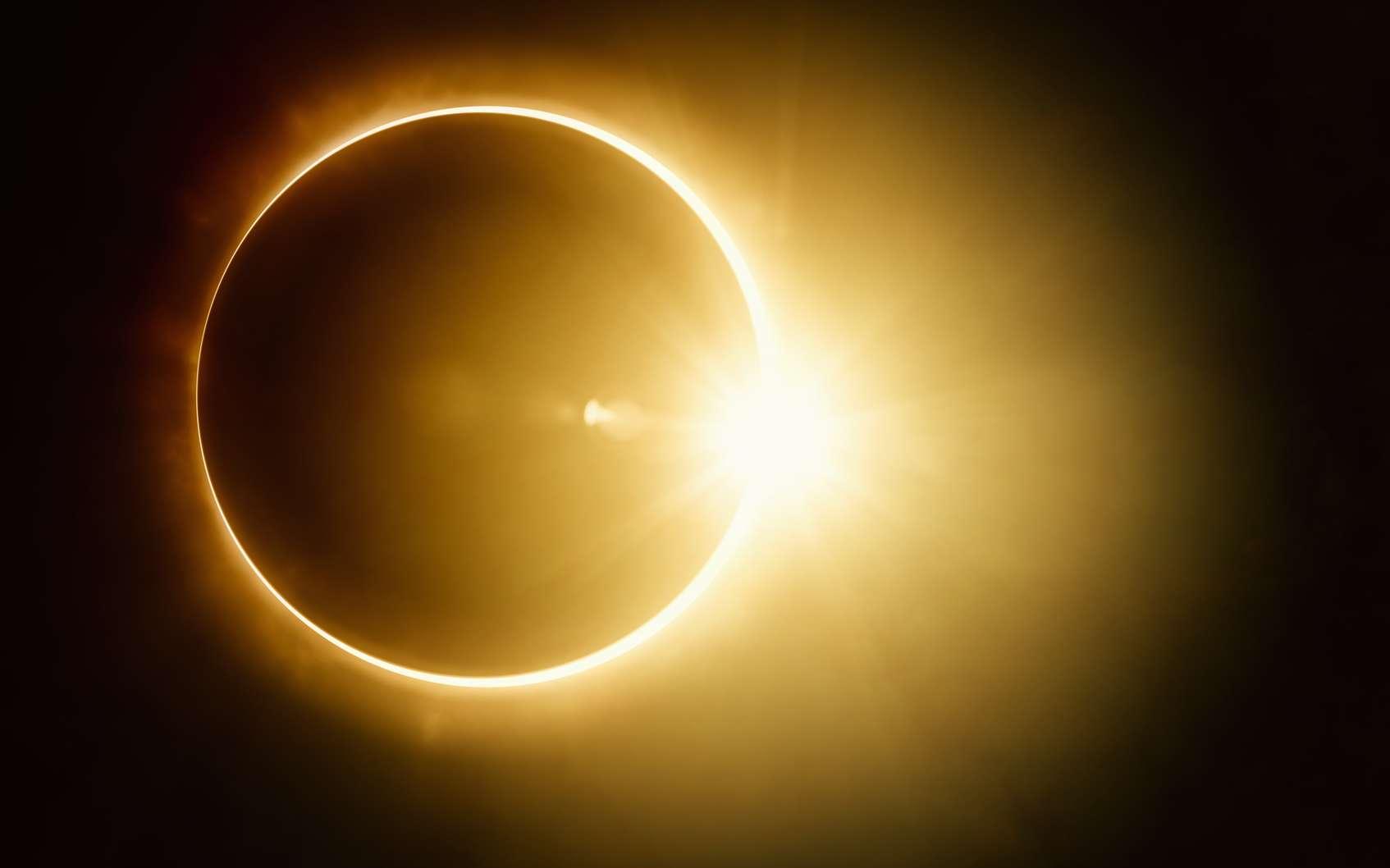 Illustration d'une éclipse quasi totale du Soleil. © Ig0rZh, fotolia