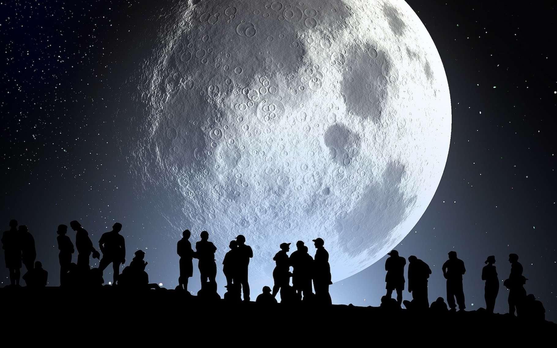Un peu partout, en France et dans le monde, vous pourrez fêter cet été les 50 ans du premier pas de l'Homme sur la Lune. © geralt, Pixabay License