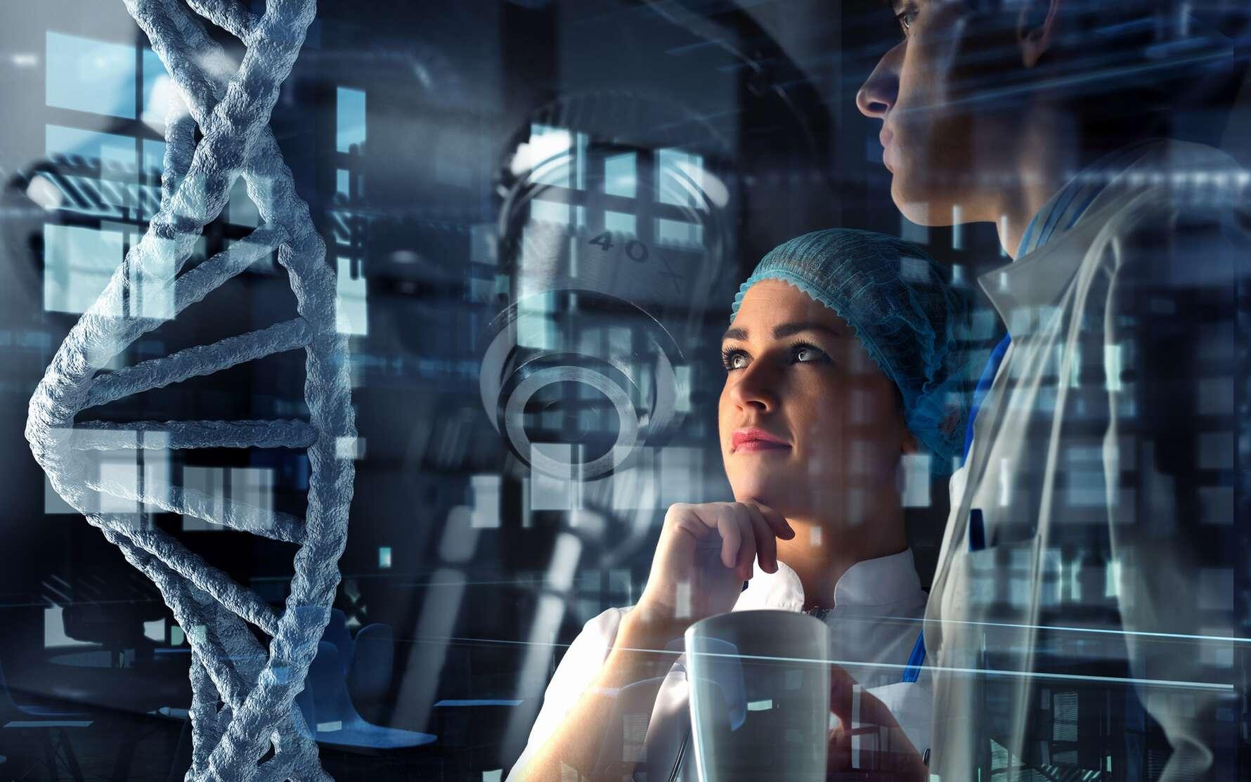 L'ingénieur biologiste utilise les nouvelles technologies pour élaborer de nouvelles techniques de recherches scientifiques. © Sergey Nivens, Fotolia.