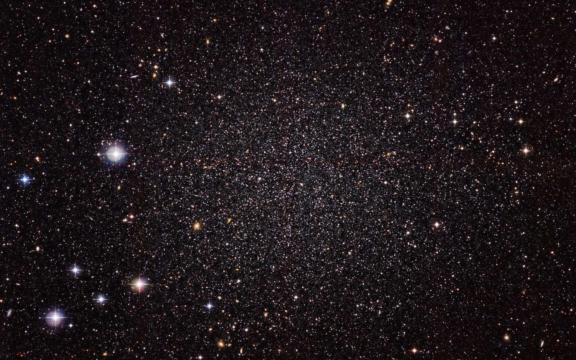 Gaia est sur la piste de la matière noire. Ici, une vue de la galaxie naine du Sculpteur. © ESO