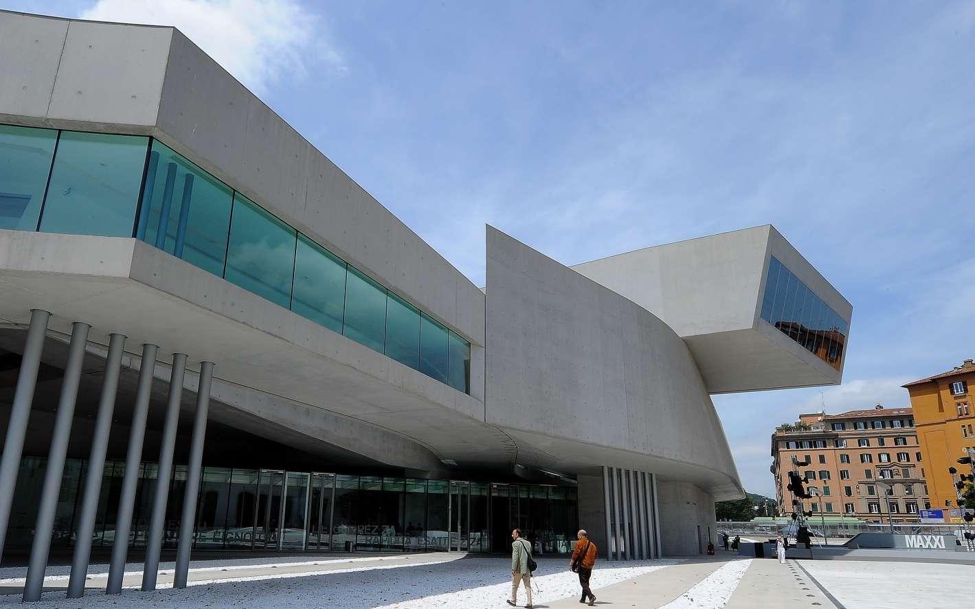 Le MAXXI Museum de Zaha Hadid à Rome. © Alberto Pizzoli, AFP