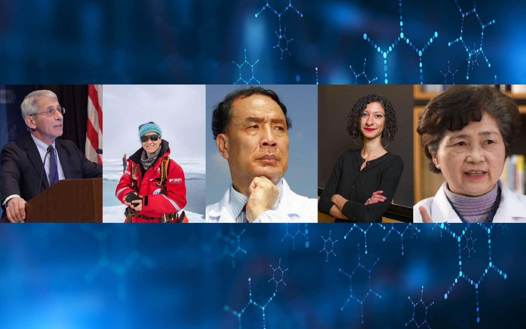 Les 10 personnalités qui ont marqué la science en 2020. © foxaon, Adobe Stock ; NIAID ; Jeremy Gasowski ; Twitter